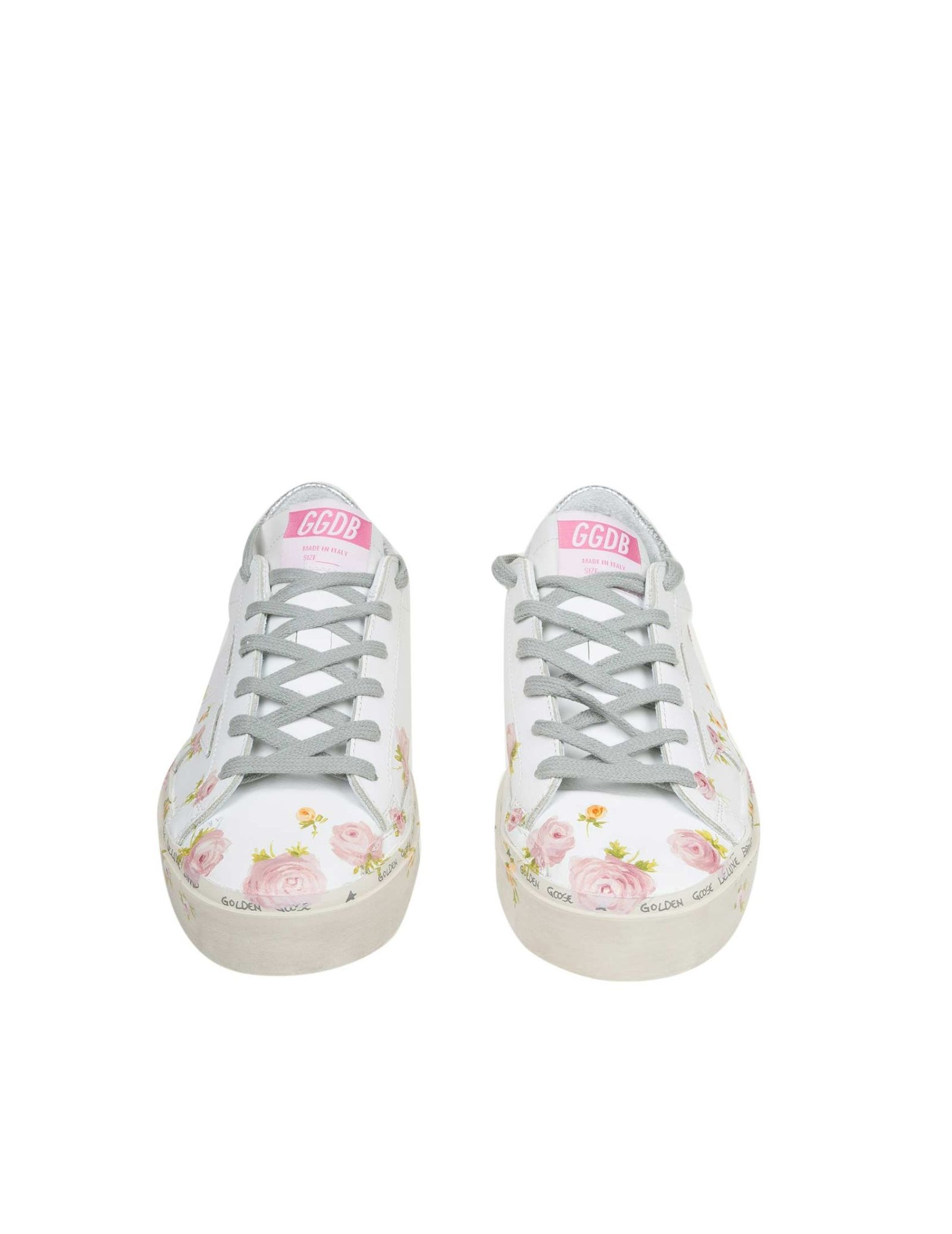 259def4ecd62 ... Golden Goose Hi Star Sneakers In White Leather With Floral Print -  White ...