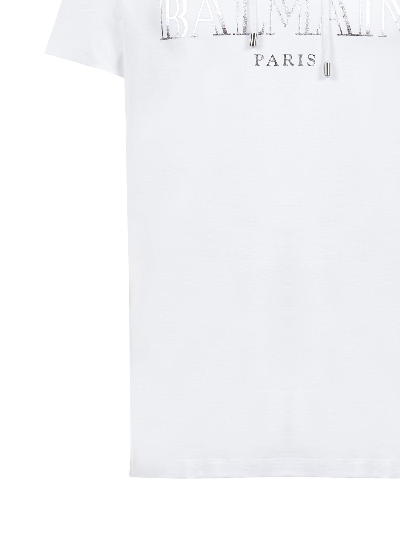 247277804 Balmain Balmain Short Sleeve T-Shirt - Bianco argento - 10787039 ...