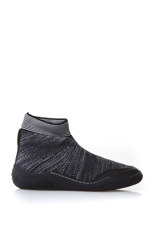 Lanvin Sneakers Lanvin Black Cotton Stretch Sneakers