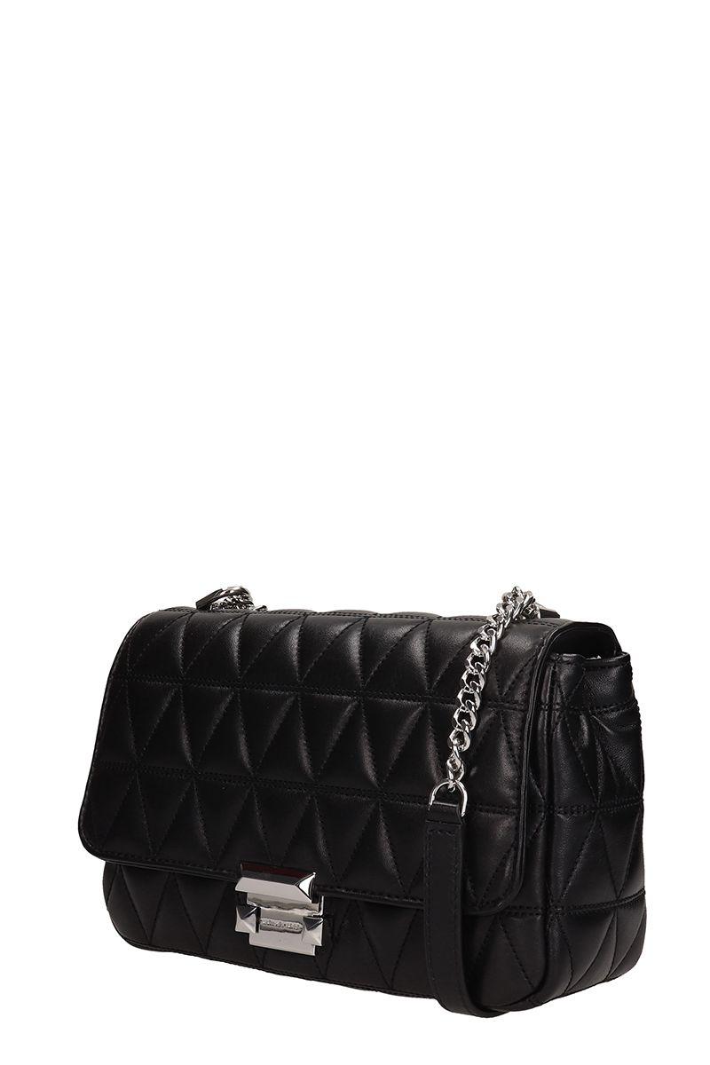 5d644e70f5932 Michael Kors Michael Kors Sloan Quilted-leather Shoulder Bag - Black ...