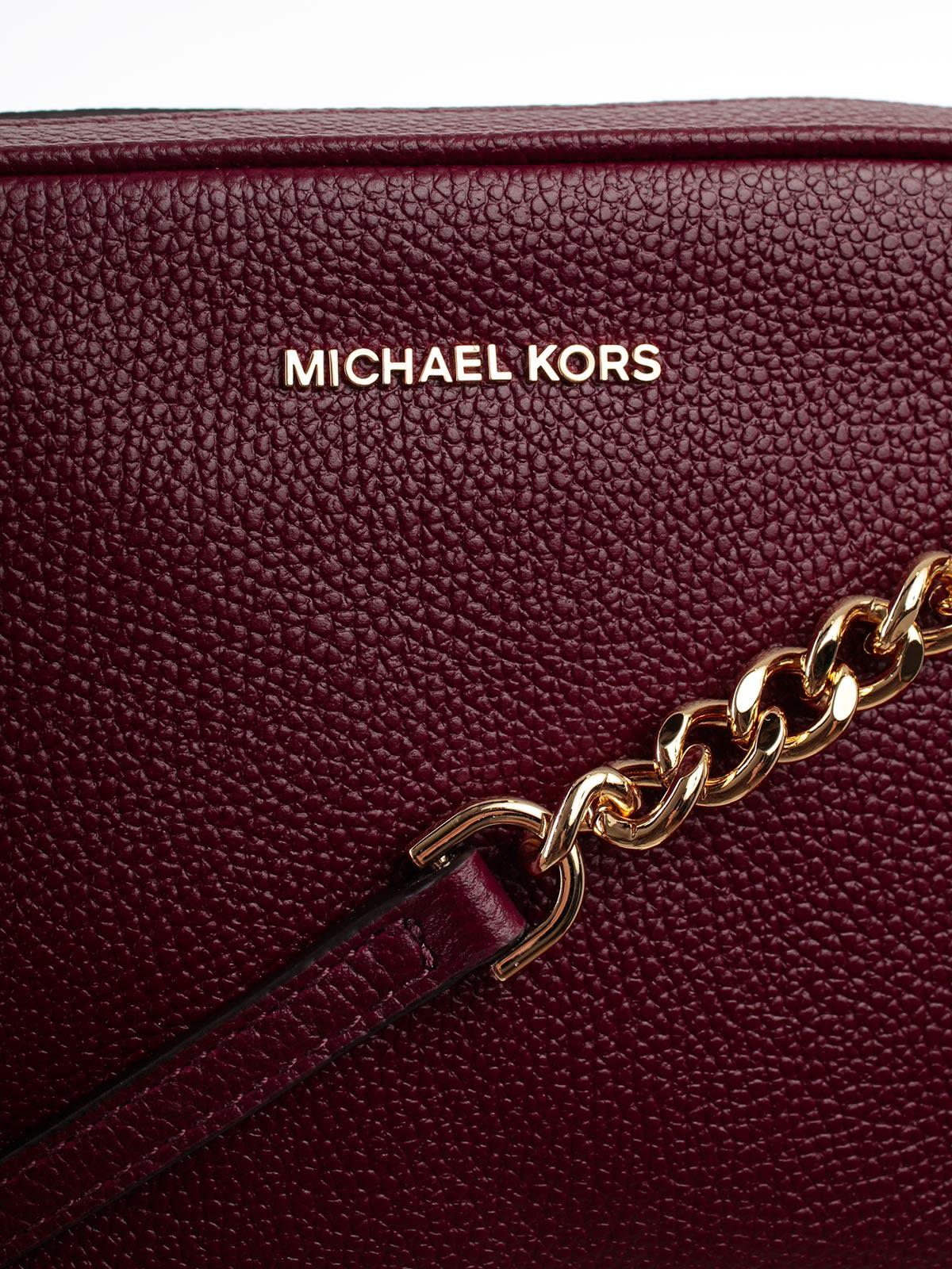 a2cbd7a93aa5 ... MICHAEL Michael Kors Ginny Medium Camera Shoulder Bag - Oxblood