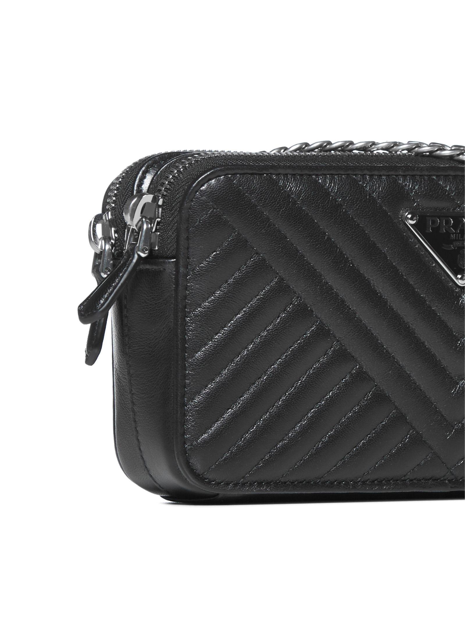 766b895abdda Prada Prada Quilted Shoulder Bag - Nero - 10904039   italist