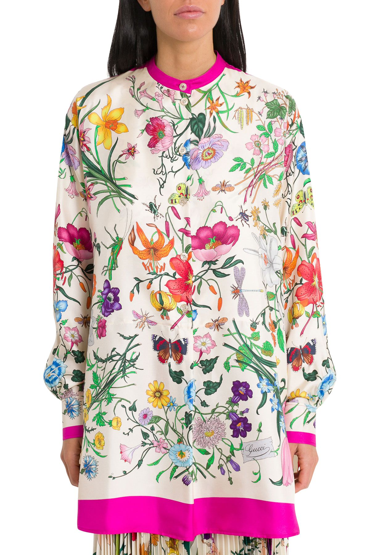 c84784bc7c44 Gucci Gucci Oversize Shirt With Flora Print - Purple - 10803492 ...