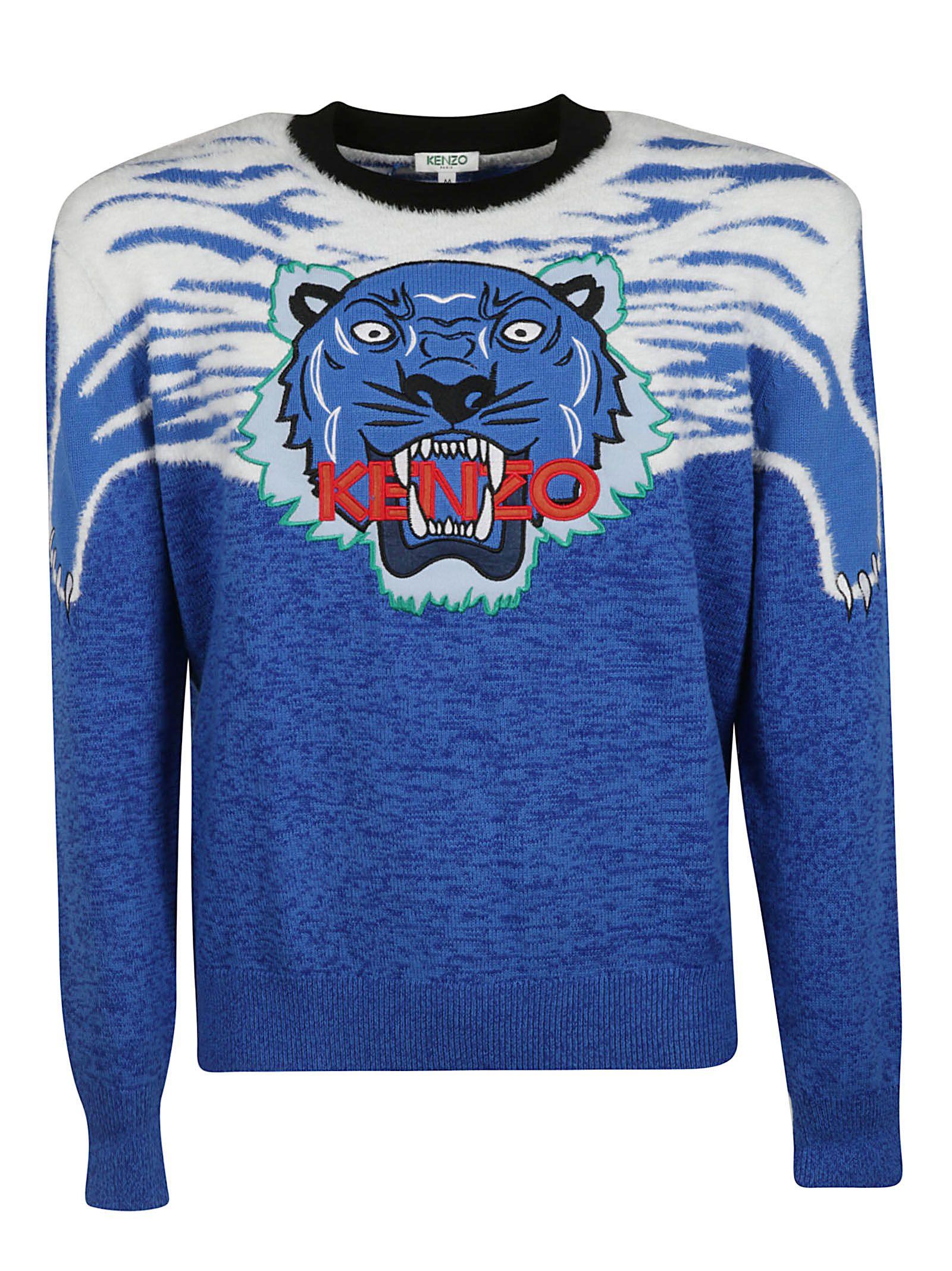6d41e6c2fac689 Kenzo Kenzo Tiger Sweater - Bleu France - 10799710 | italist