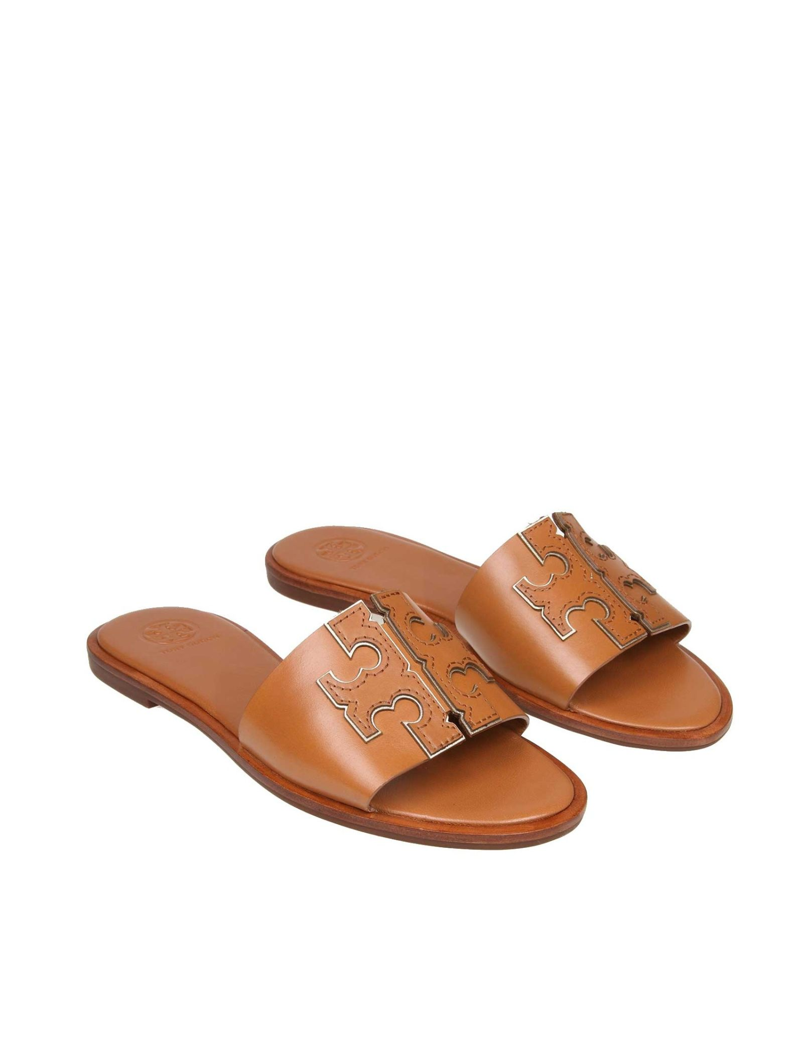 7daa16fe346b Tory Burch Tory Burch Ines Leather Sandals In Leather Color - Brown ...