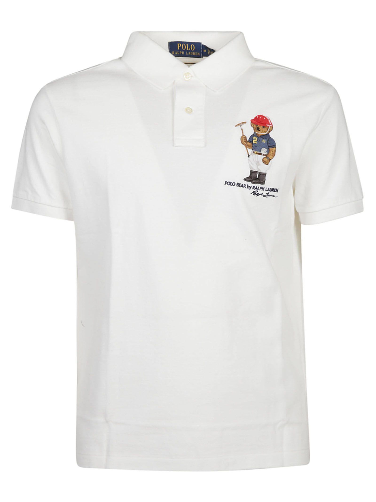 d0c8c219d Ralph Lauren Ralph Lauren Bear Print Polo Shirt - White - 10811727 ...