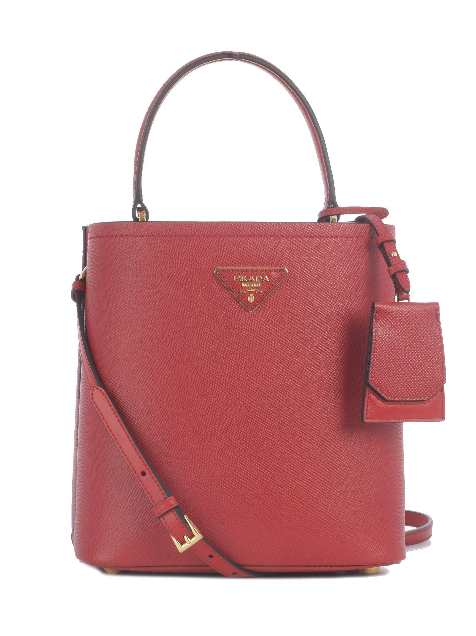 9311a6b7e84d Prada Prada Small Saffiano Bucket Bag - Fuoco - 10784130 | italist