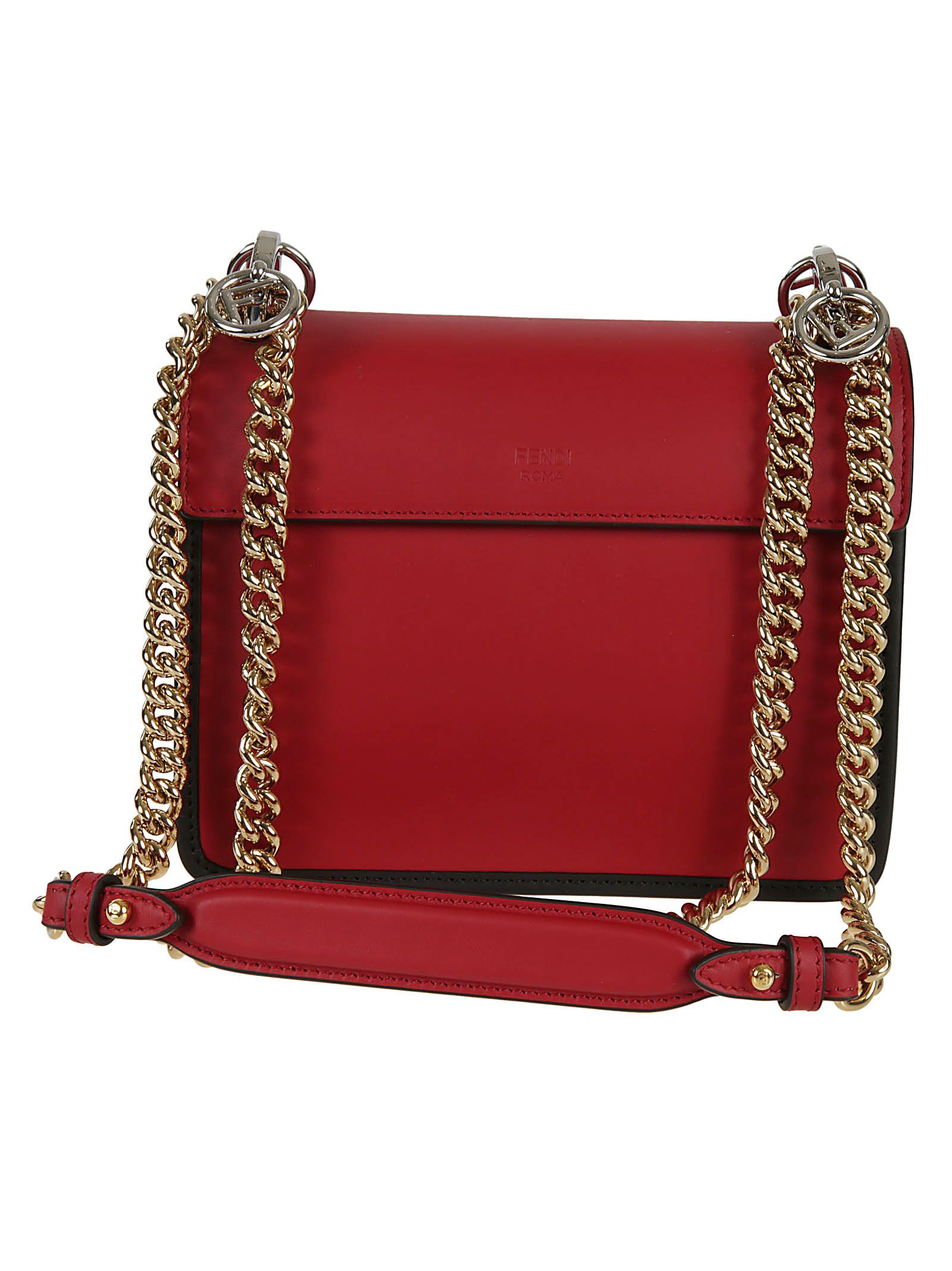 1fe0265a1e ... Fendi Kan I F Shoulder Bag - RED ...