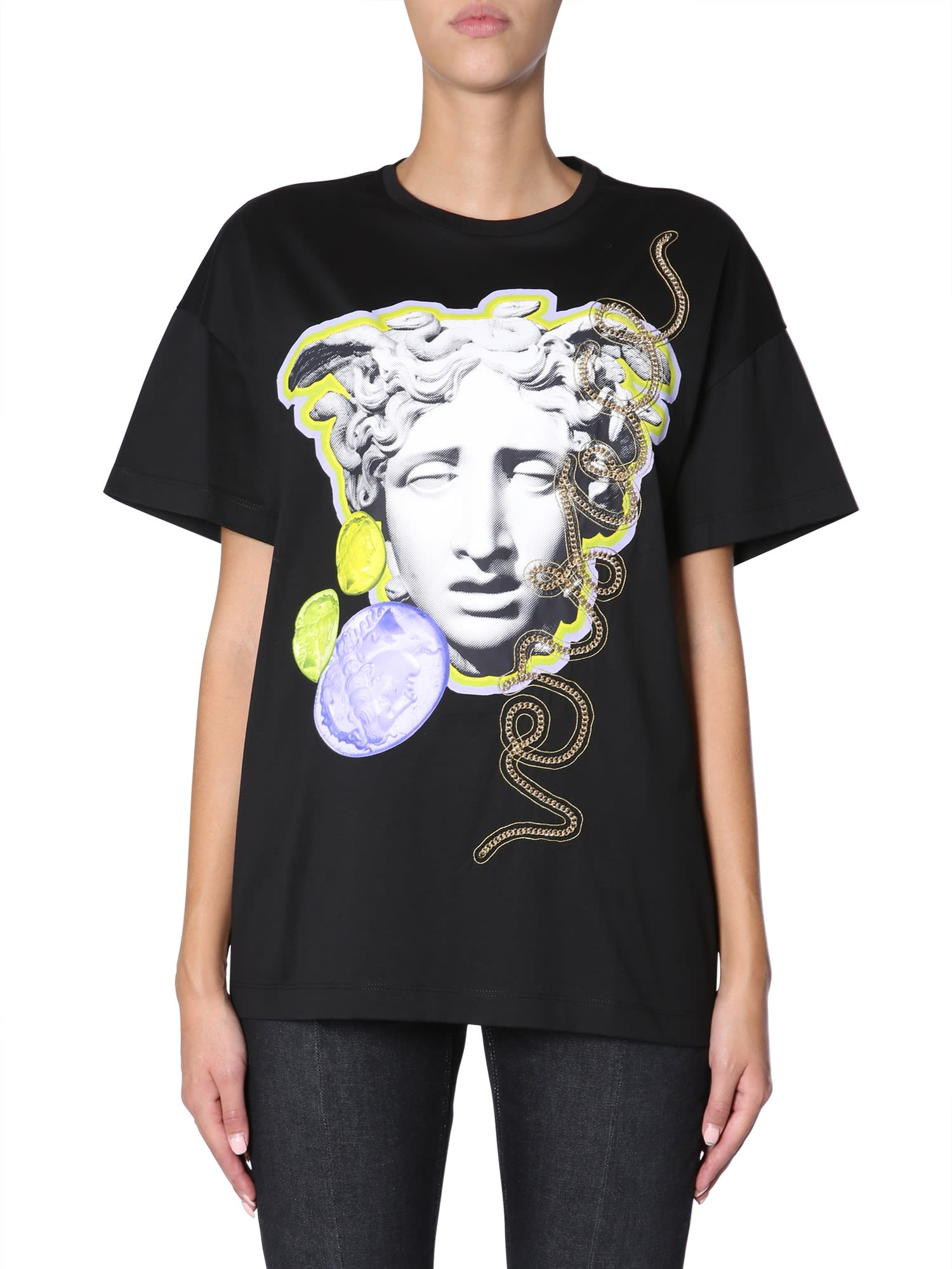 5da13f25a Versace Versace Medusa Head Printed T-shirt - NERO - 10720248 | italist