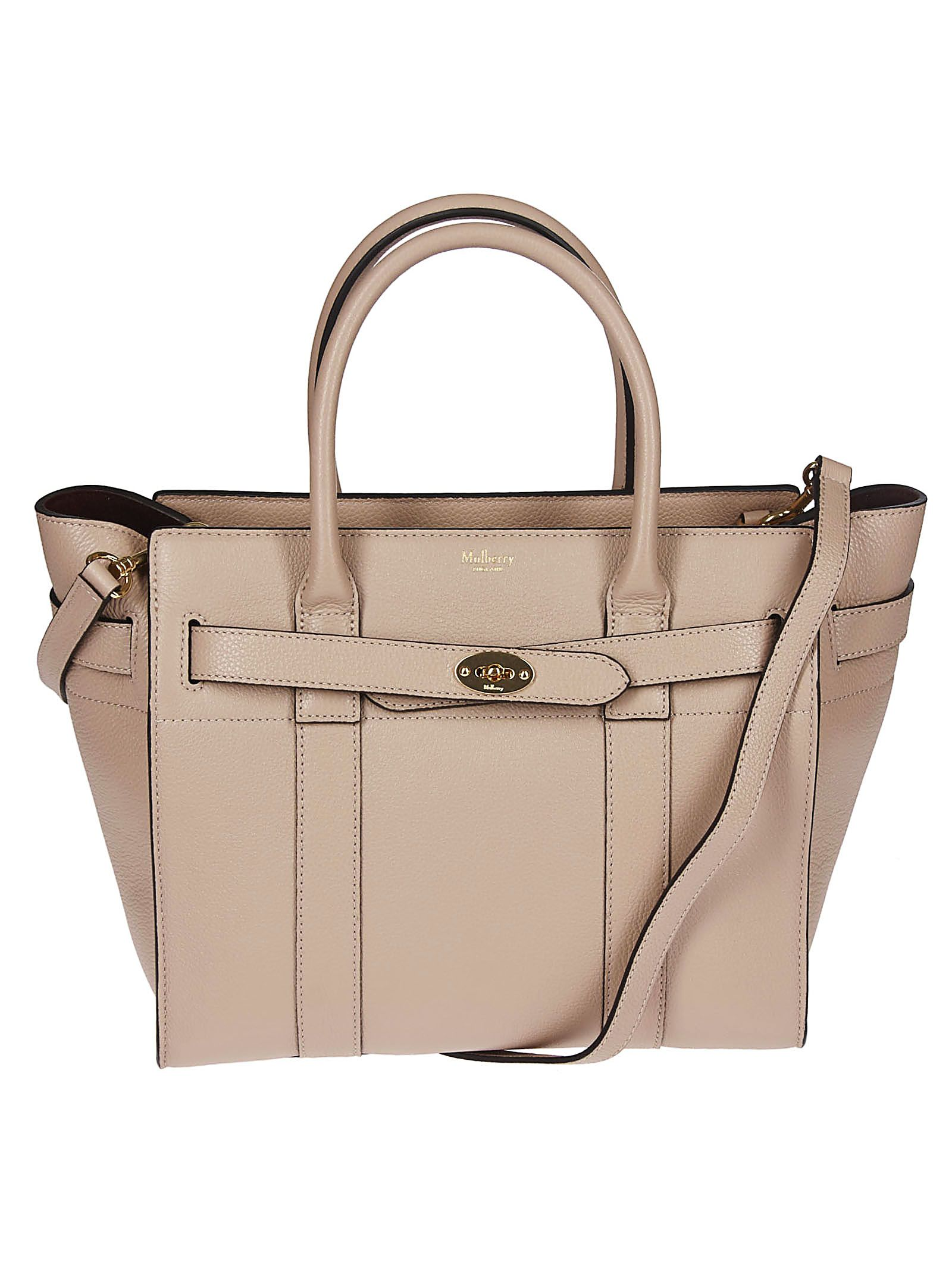 5099fb6a910 Mulberry Mulberry Small Zipped Bayswater Tote - Beige - 10829620 ...