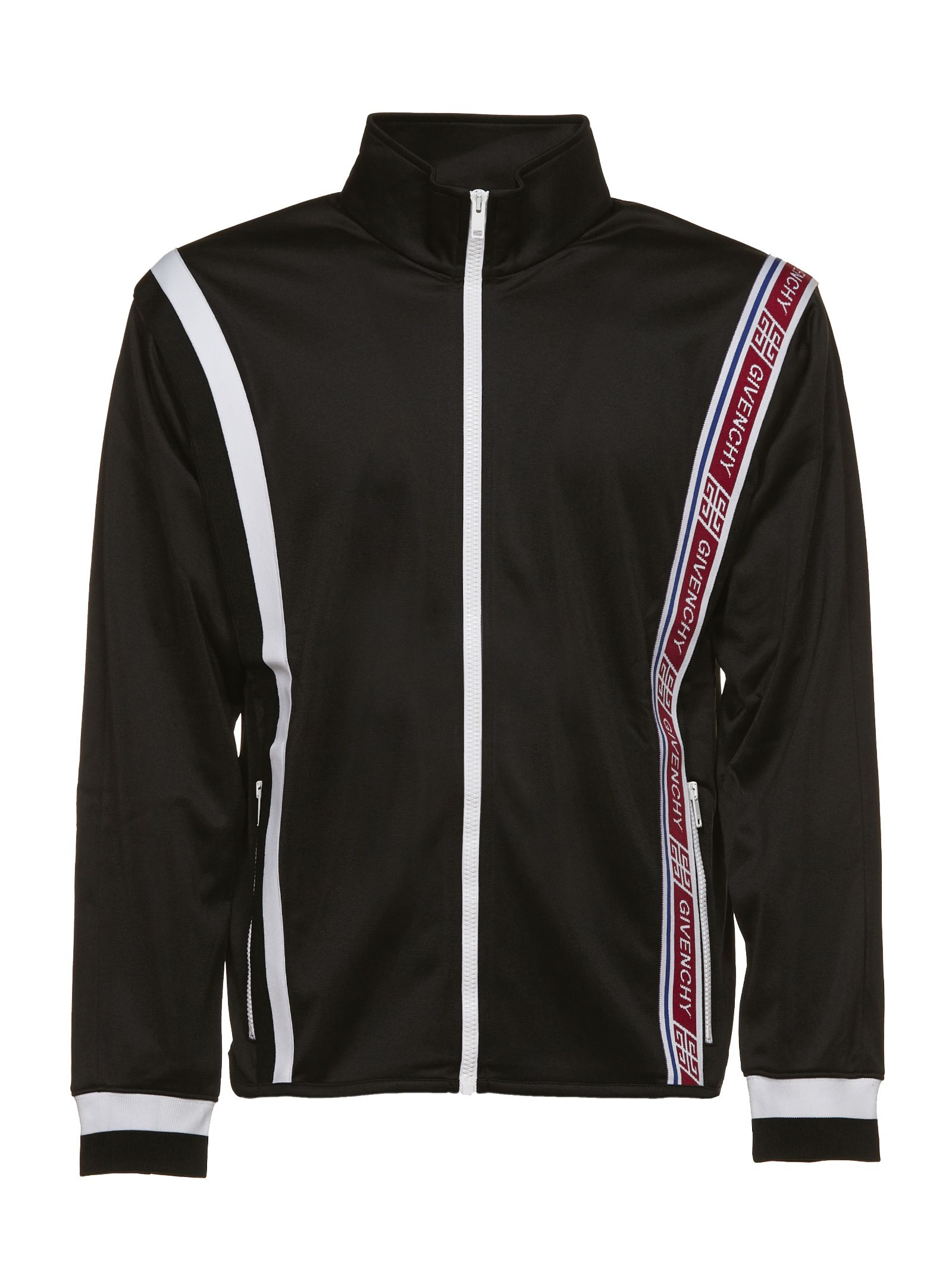 givenchy givenchy logo tape track jacket black