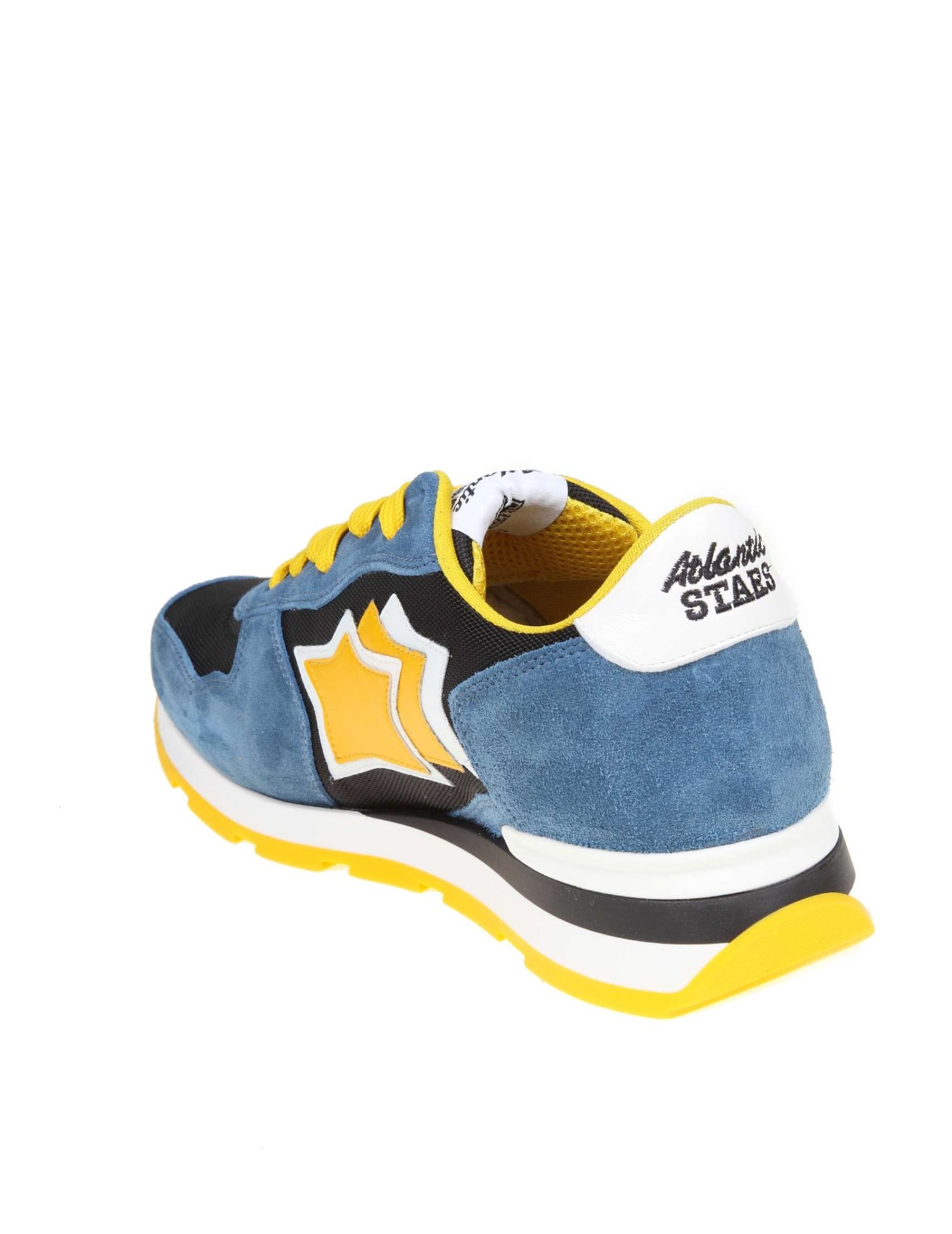 3a92badbc3cee ... Atlantic Stars Sneakers Antares In Suede And Blue And Yellow Fabric -  Basic ...