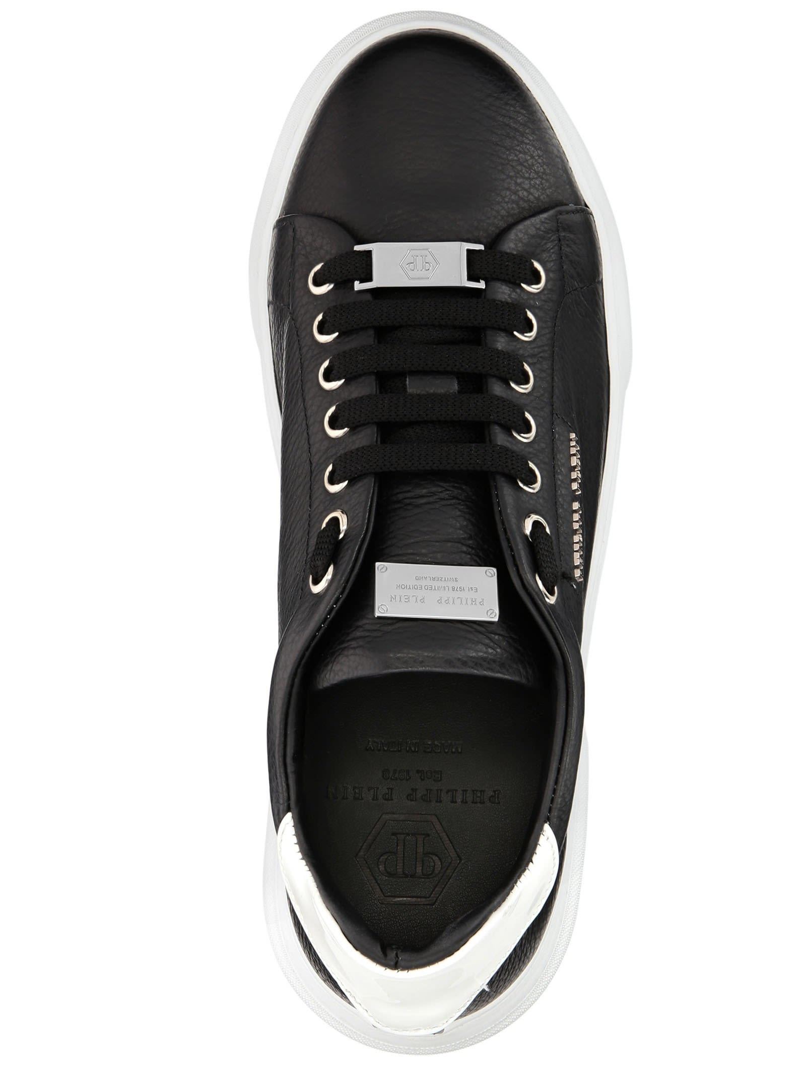 5969b4f38a1 Philipp Plein Philipp Plein Black Leather Sneakers - BLACK ...