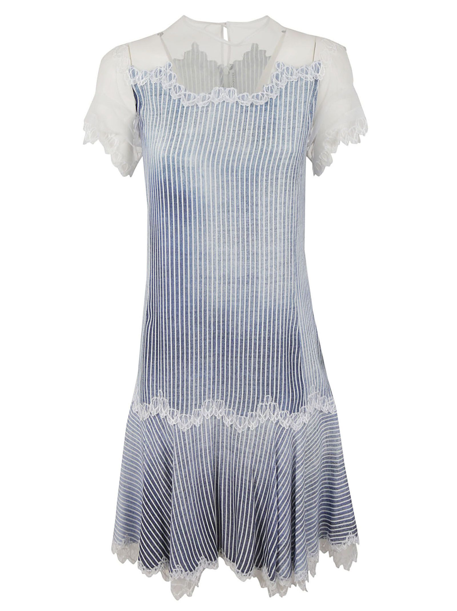 c0679566bc03 Ermanno Scervino Ermanno Scervino Lace Detail Striped Dress - Basic ...