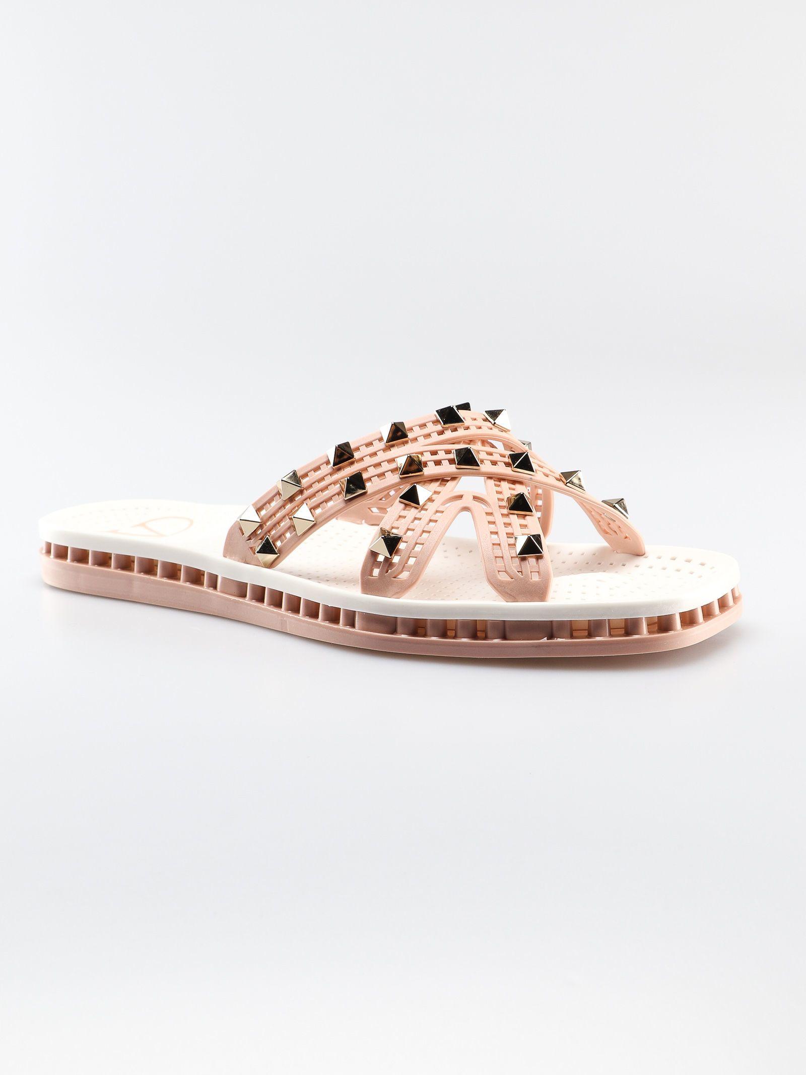 63353577405b ... Valentino Garavani Slide Flat Sandals - Rose Cannelle bianco ...