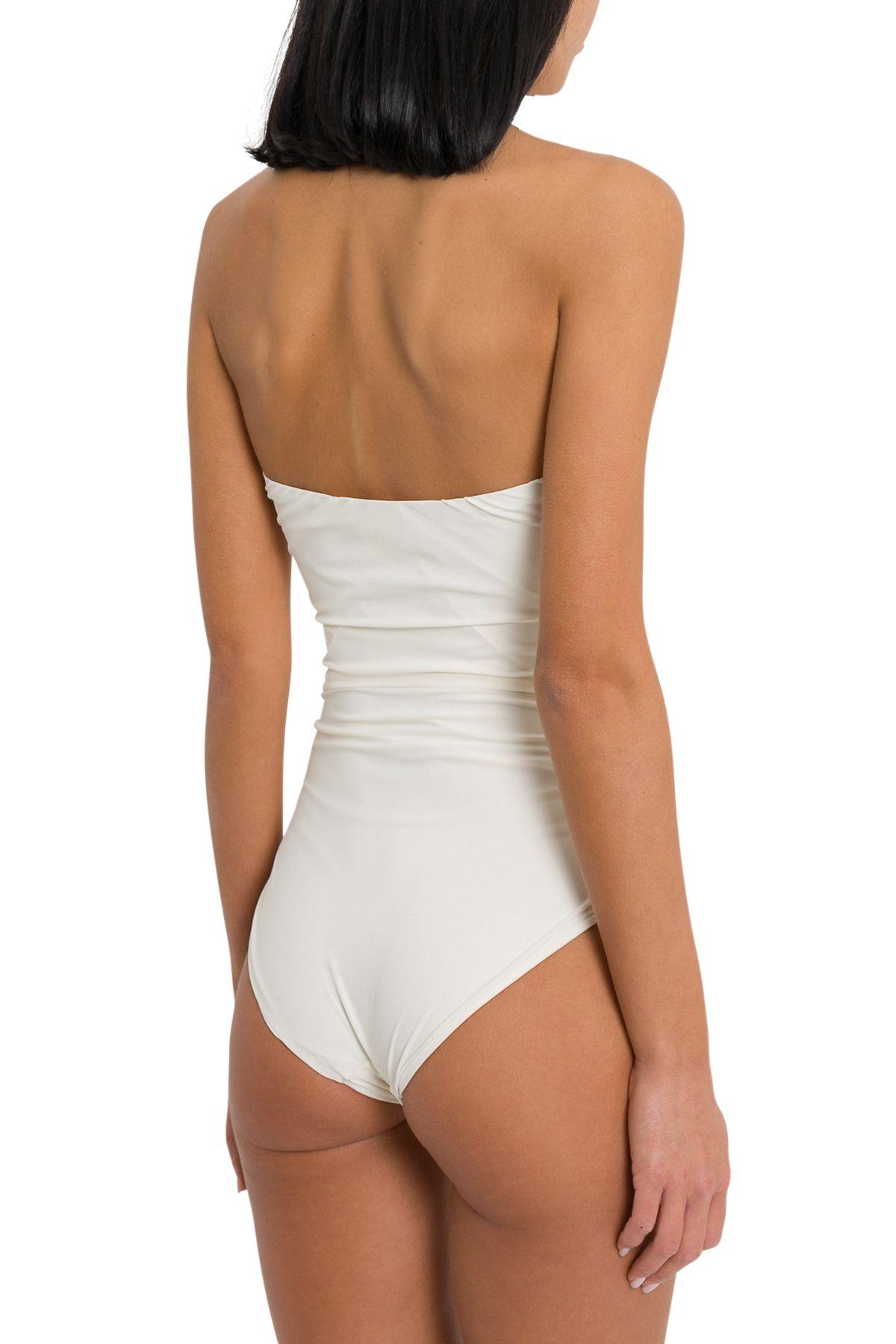 c043c8249d7f2 Le Petit Réve Le Petit Réve Bustier One Piece Swimsuit - Bianco ...