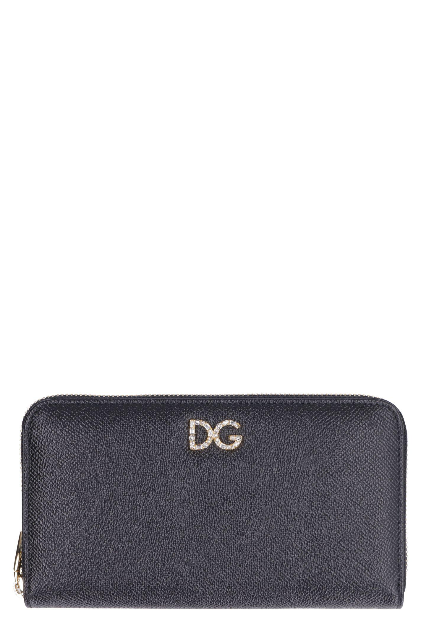 6e161f61bd Dolce & Gabbana Dolce & Gabbana Dauphine Leather Print Zip Around ...