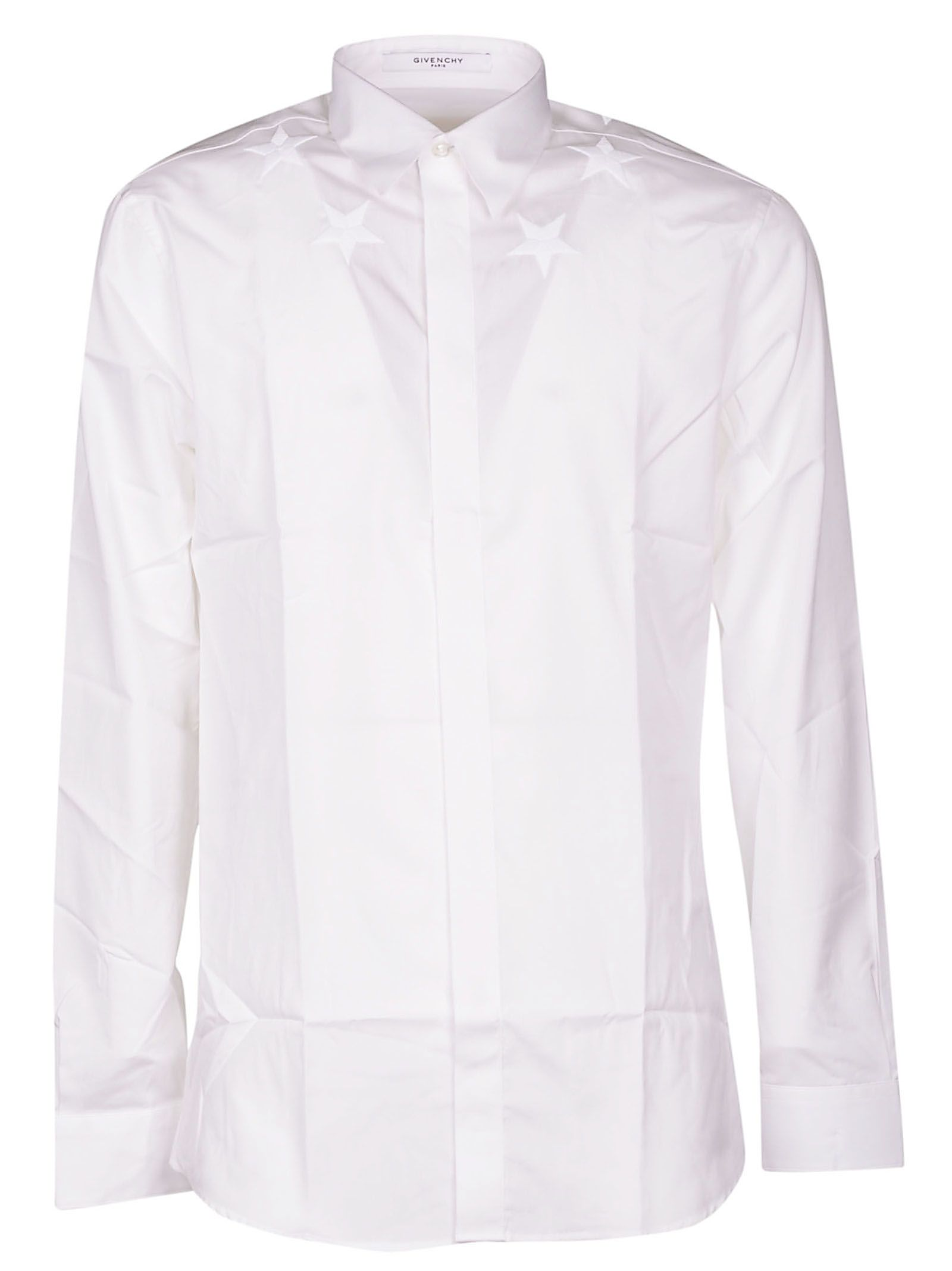 4a37ec9010e Givenchy Givenchy Embroidered Stars Shirt - White - 10851779