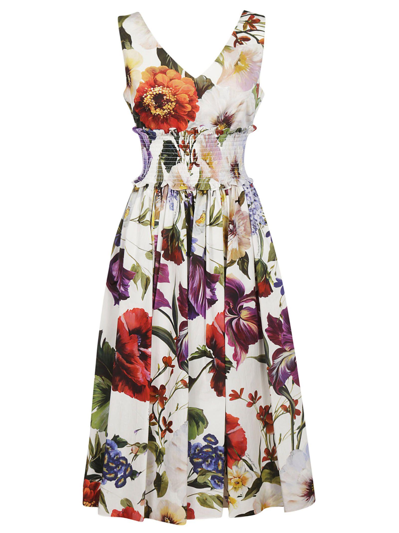 28ee7744 Dolce & Gabbana Dolce & Gabbana Floral Print Midi Dress - floral ...
