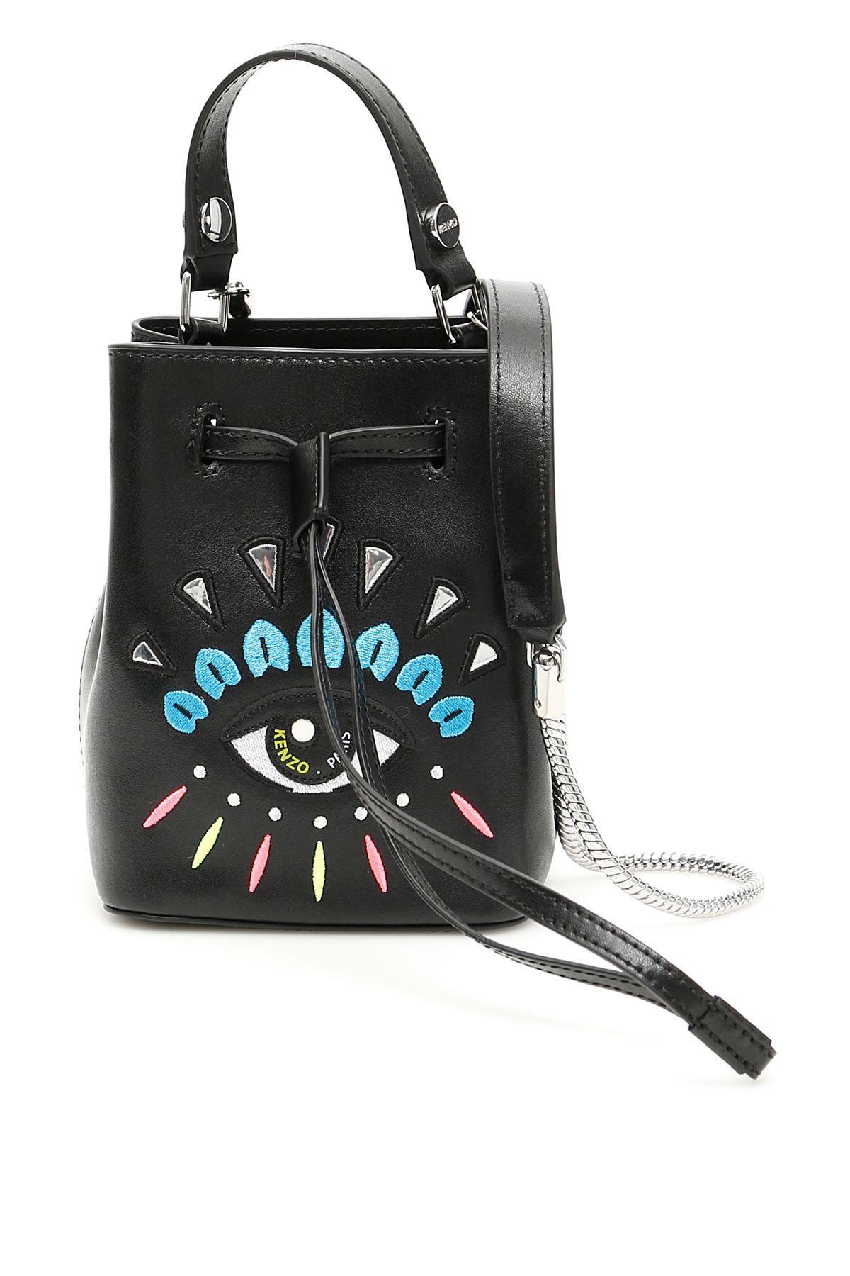 KENZO Kenzo Mini Bucket Bag With Eye Embroidery