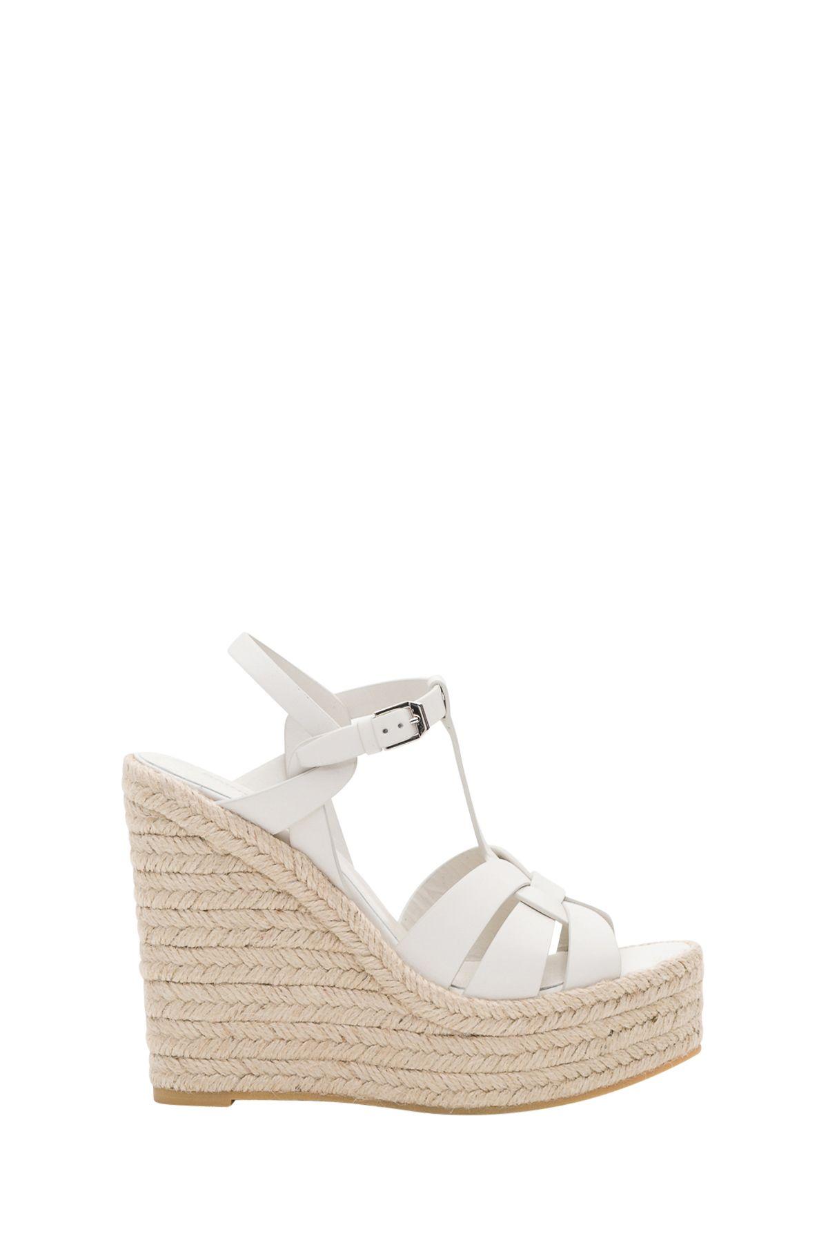 a831342e0f3 Saint Laurent Saint Laurent Espadrille Wedge Sandal In Leather ...