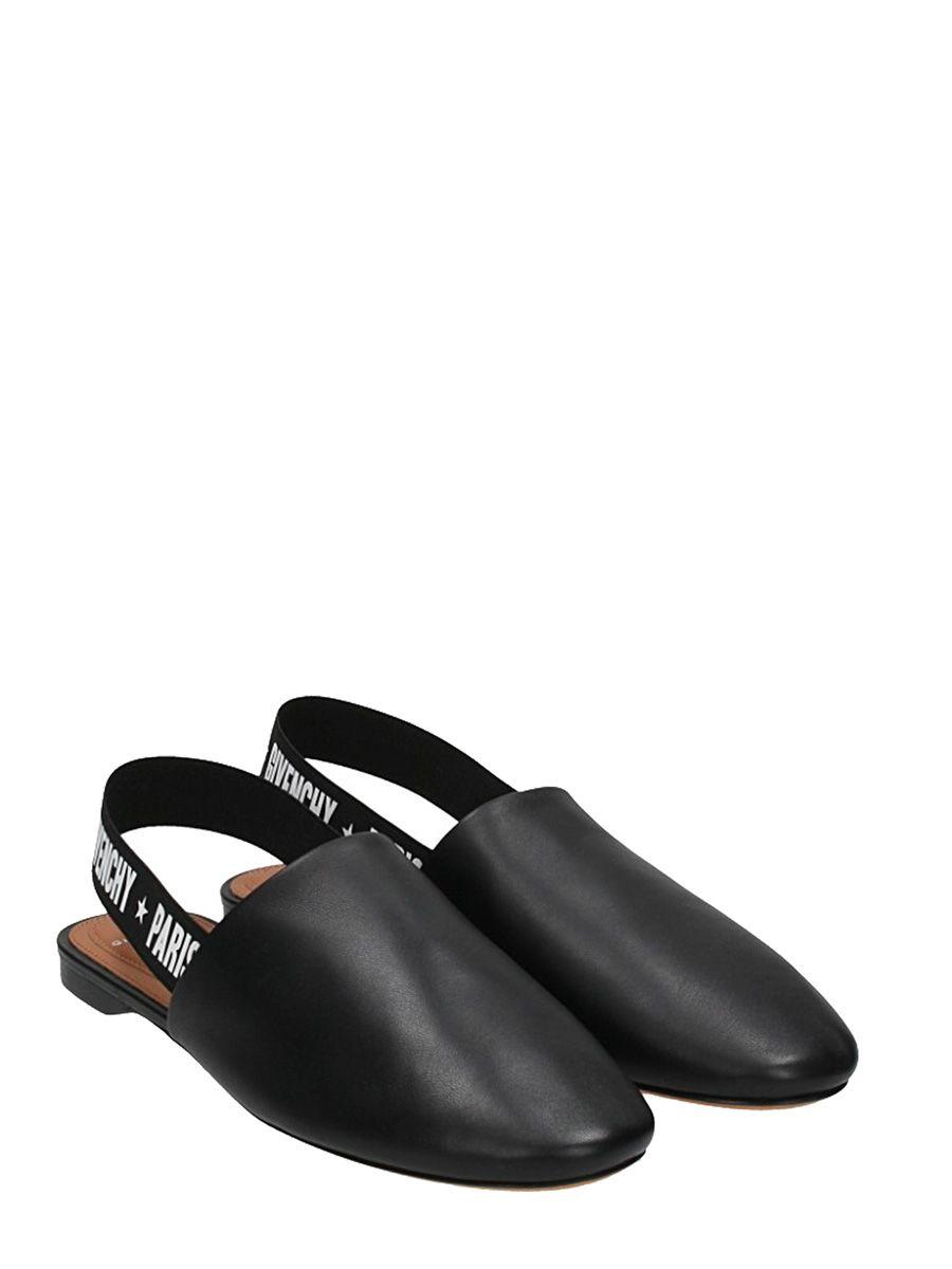 9fae311cdf8 Givenchy Givenchy Rivington Logo Slingback Mule Flat - Black - 10533611