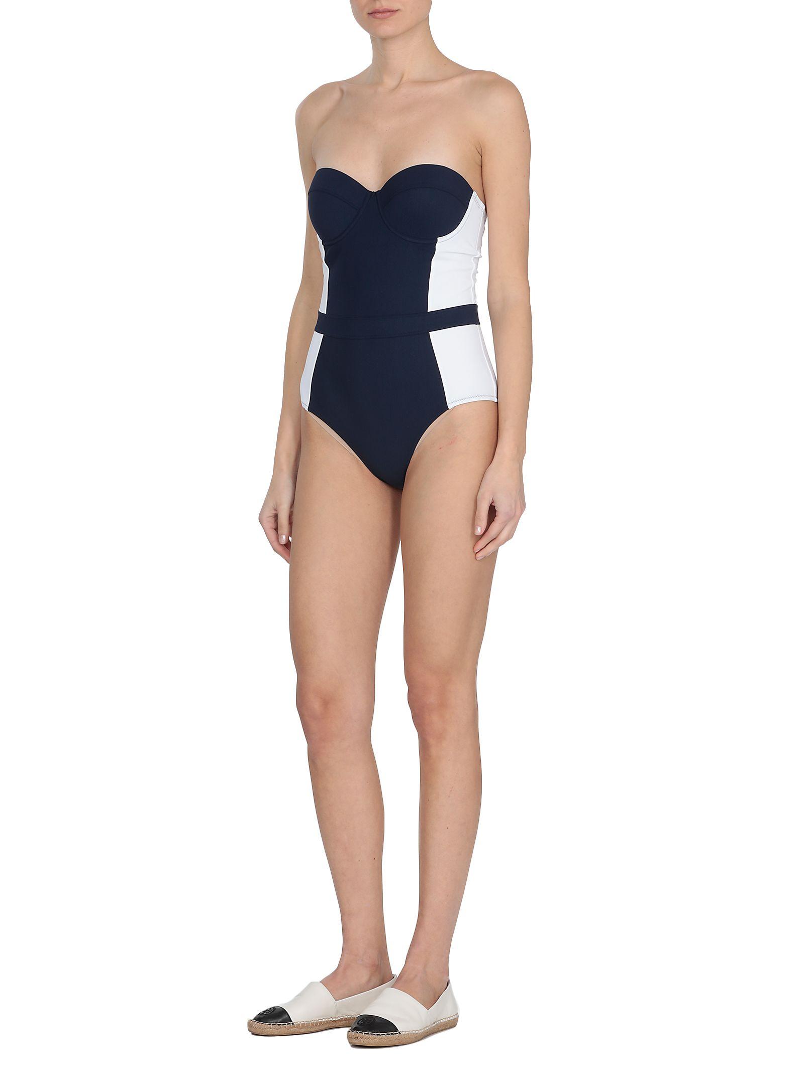 105f701d1df42 Tory Burch Tory Burch Lipsi One Piece Swimwear - TORY NAVY   WHITE ...