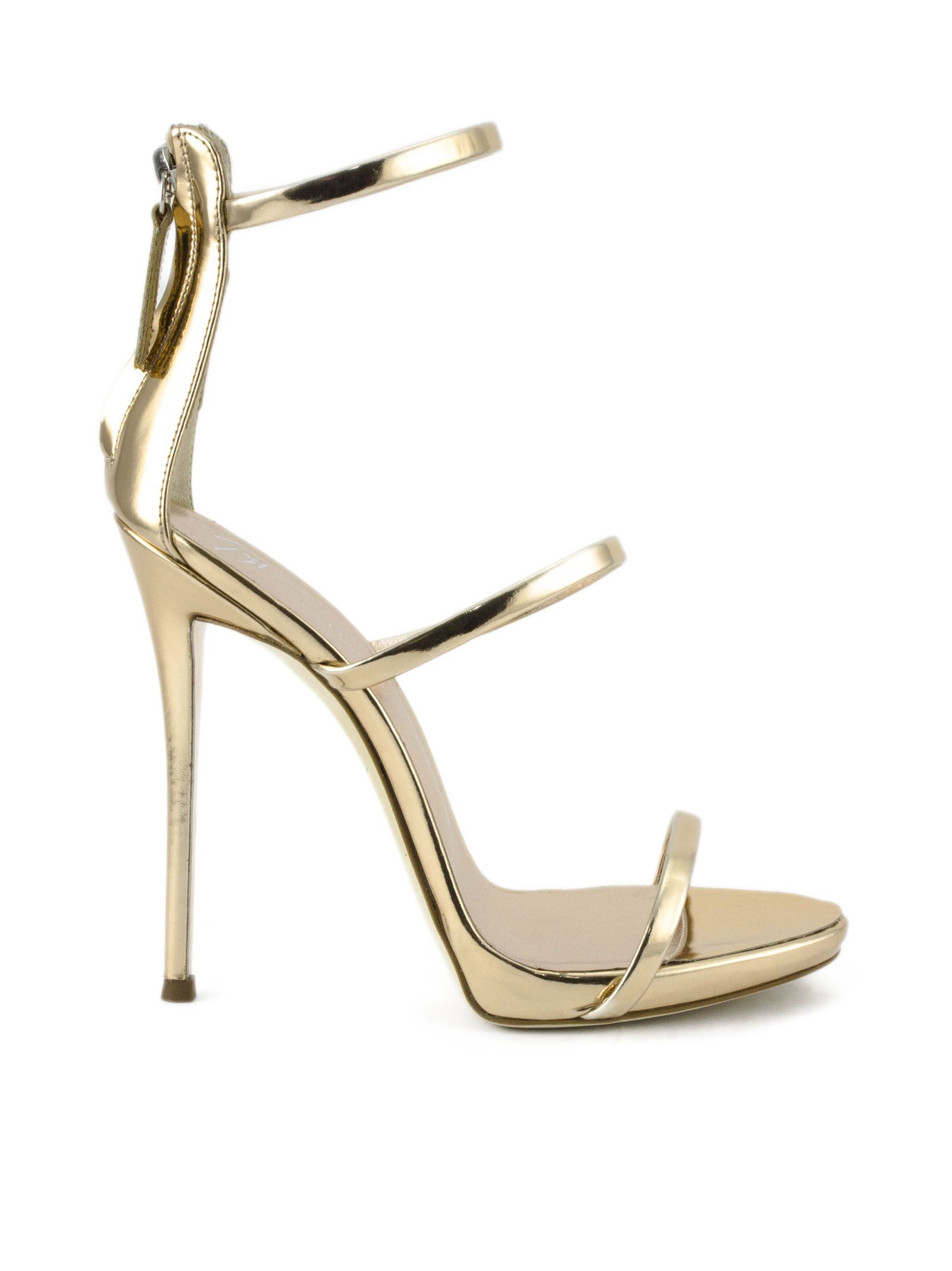 02e354f61de Giuseppe Zanotti Giuseppe Zanotti Metallic Rose Gold Leather Sandal ...