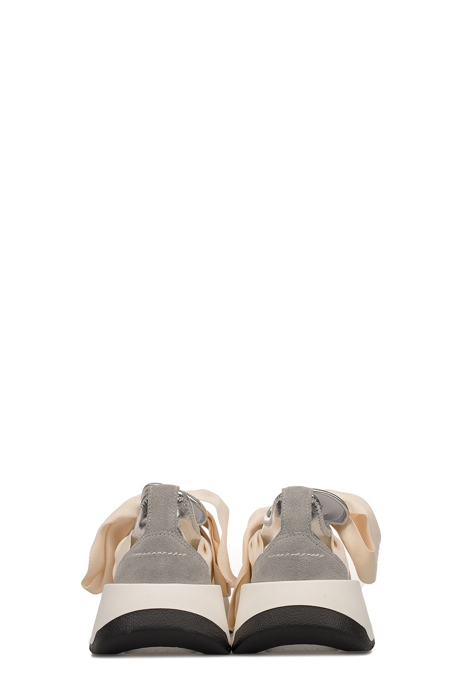 b8723bbee6a ... MM6 Maison Margiela Ivory silver Metallic Faux Leather Slip On Wedge  Sneakers - Basic ...