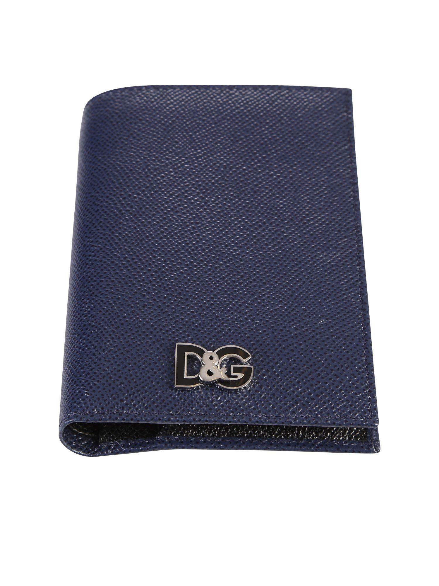 35ce5766 Dolce & Gabbana Dolce & Gabbana Dark Blue Logo Wallet - Blue ...
