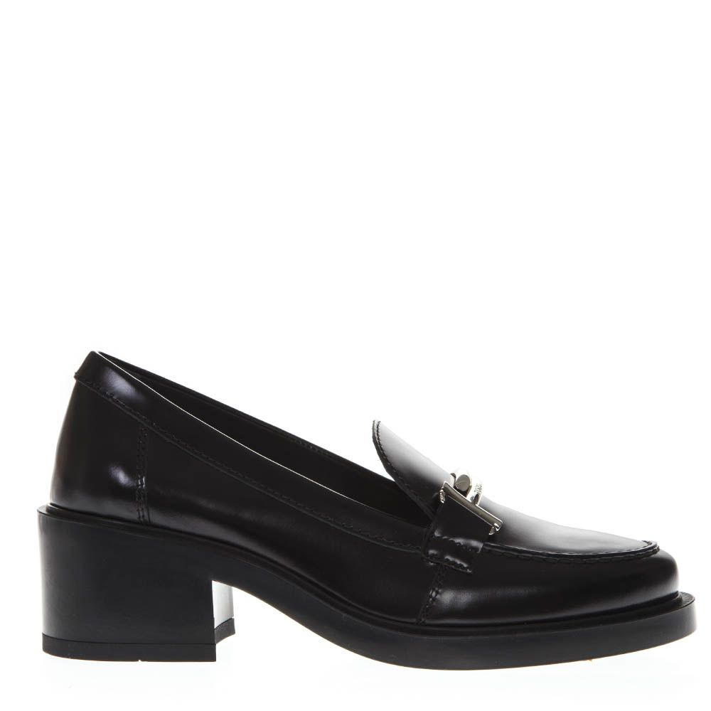 85bae9be729 Tod s Black Shiny Leather Double T Loafers ...