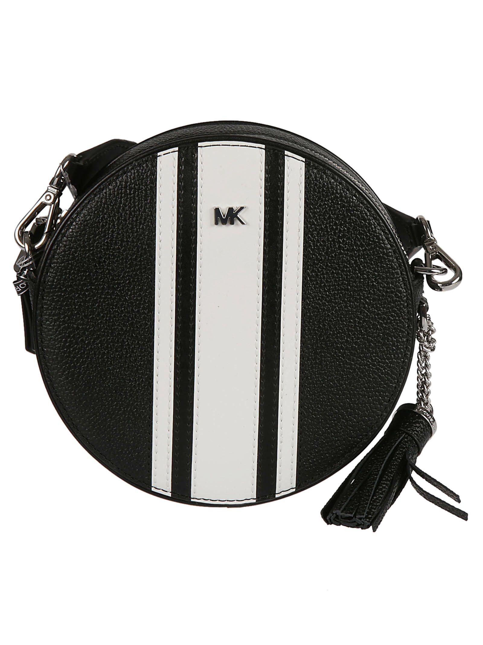 bd508cae4d10 Michael Kors Michael Kors Canteen Crossbody Bag - Black/optic white ...