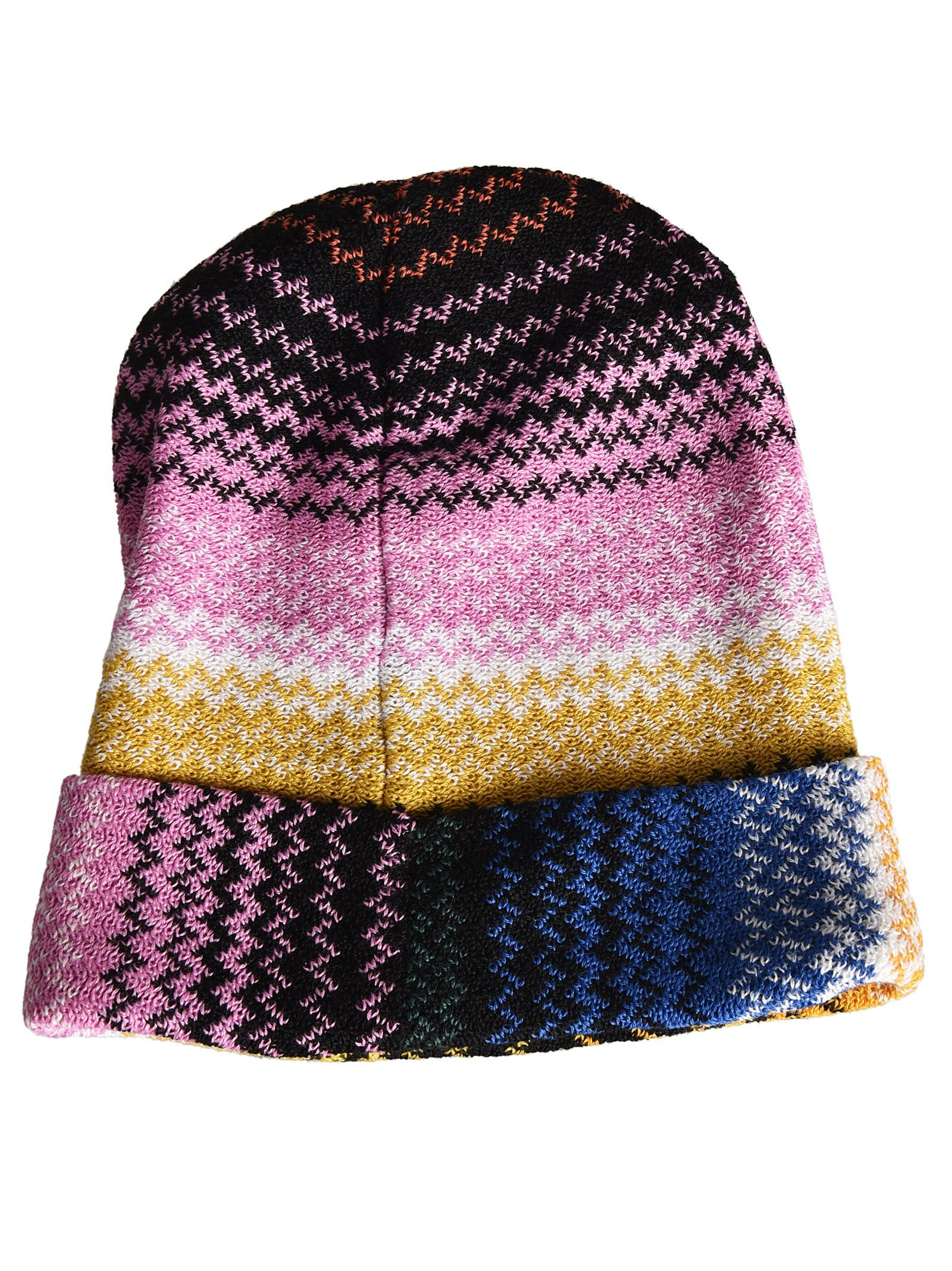 Missoni Zigzag Knitted Beanie - Multicolor Missoni Zigzag Knitted Beanie -  Multicolor ed8686335614