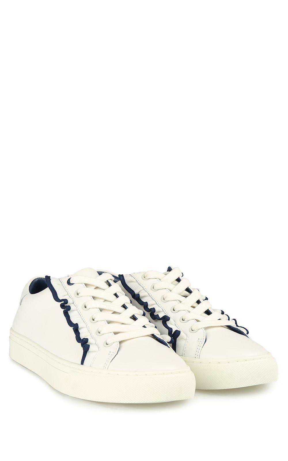739135cba7f Tory Burch Tory Burch Tory Sport Ruffle-tim Leather Sneakers - White ...