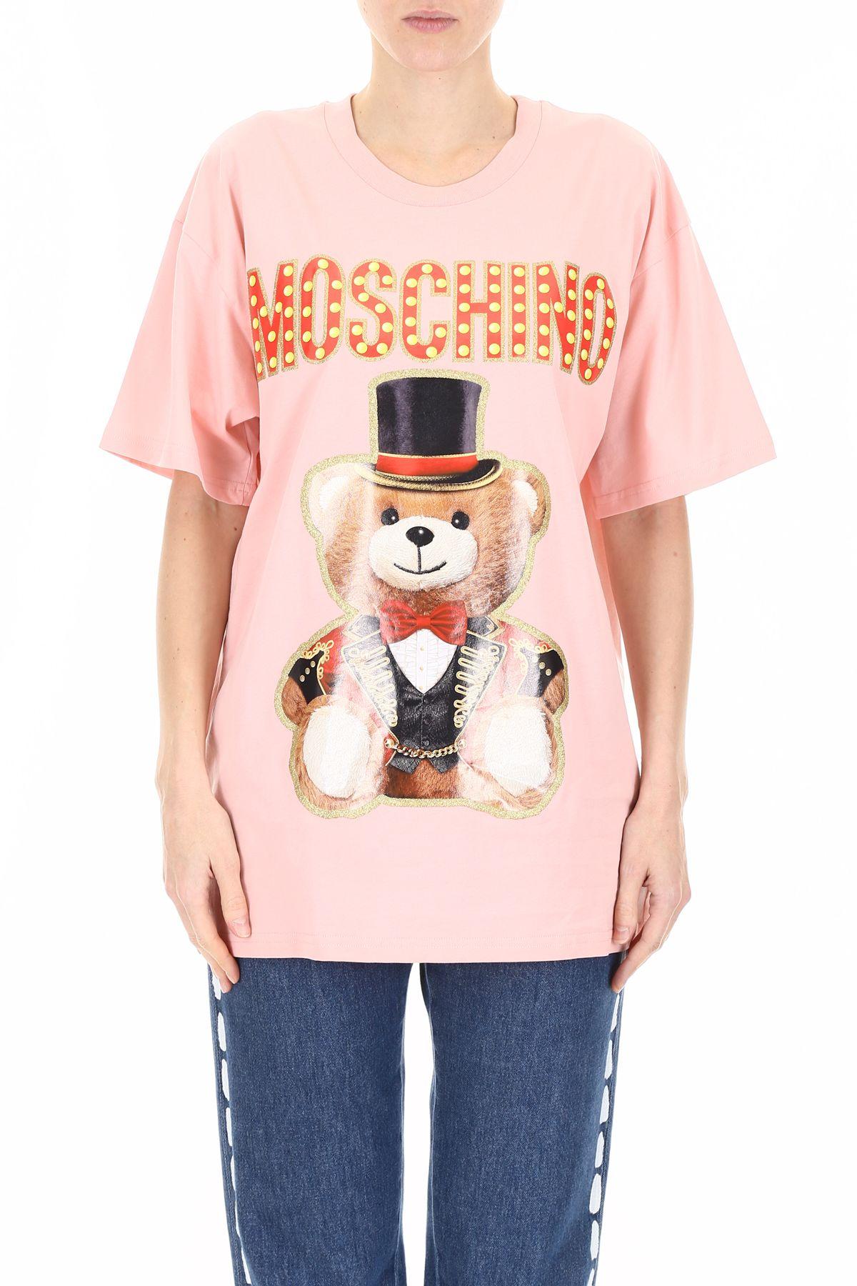 Moschino Moschino Circus Teddy T Shirt Fantasy Print Pinkrosa