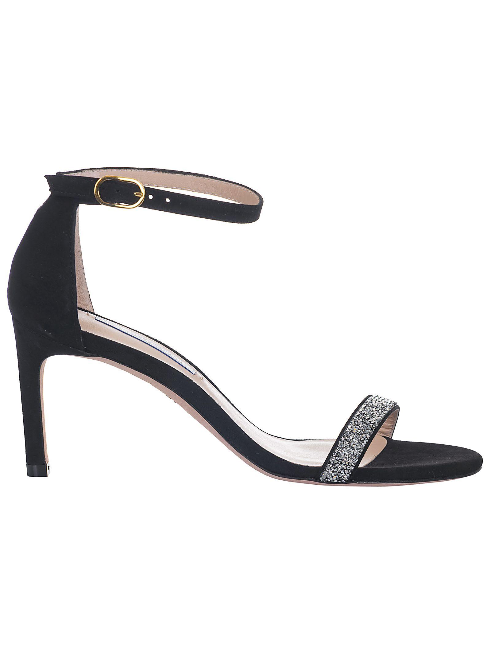 f56b20c06 Stuart Weitzman Stuart Weitzman Crystal Embellished Sandals - Black ...