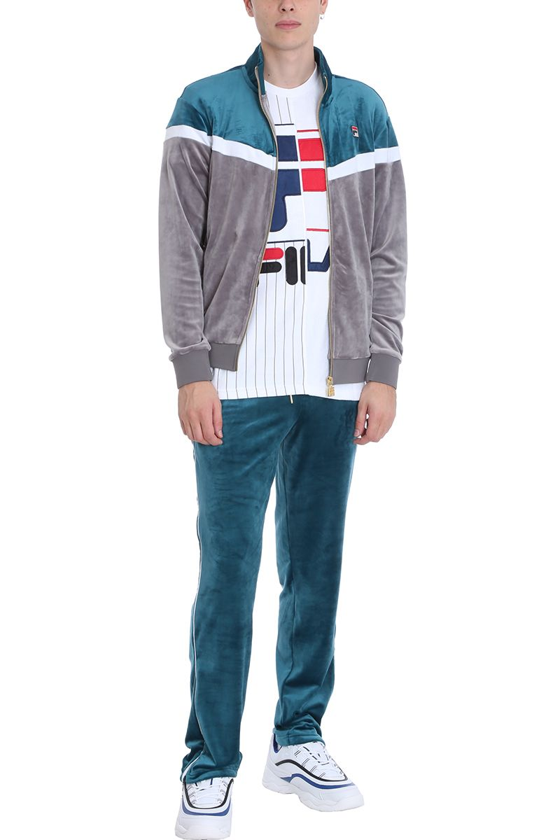 77ea94af6084 Fila Fila Water-green Velvet Cyrus Track Trousers - green - 10720354 |  italist