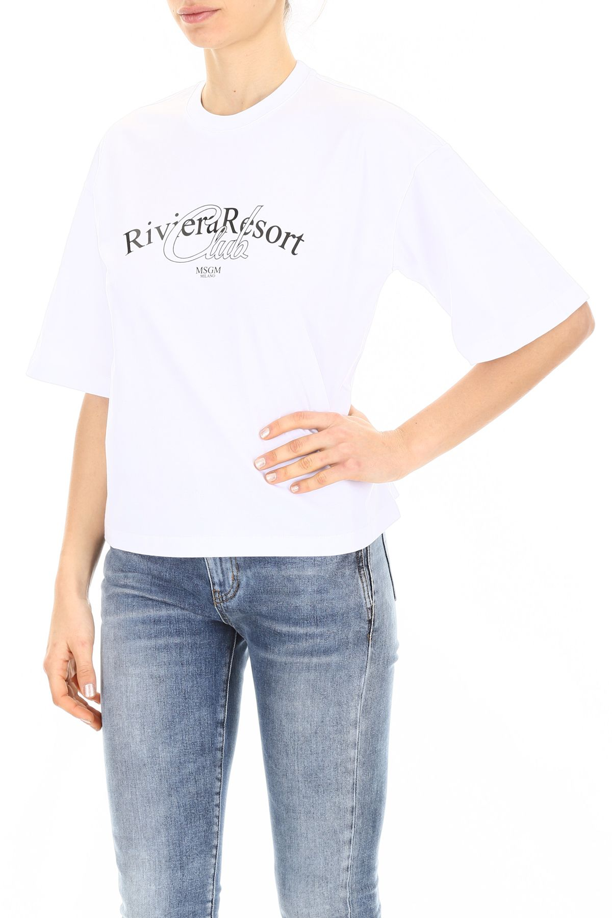 bianco Resort T 10788099 Riviera Msgm Club Bianco Shirt HWD2IE9
