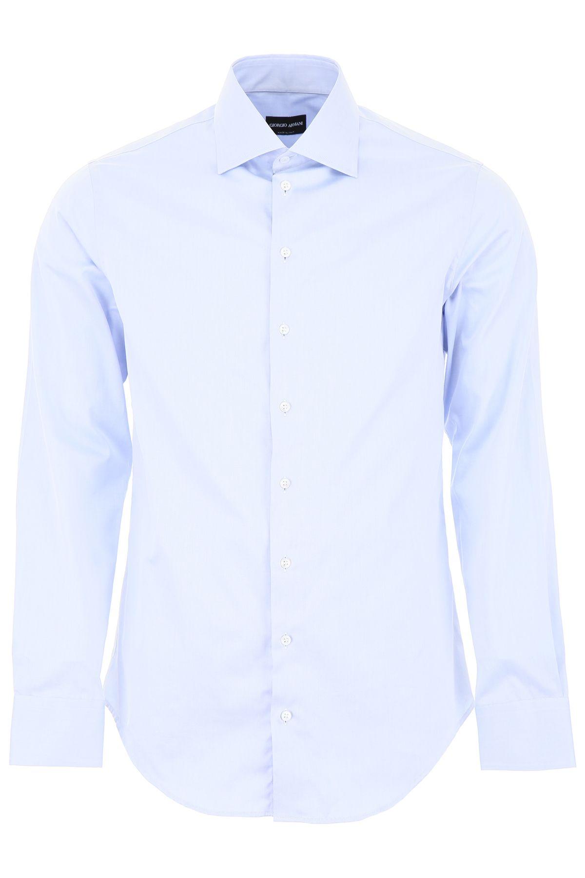 fdbd54b8 Giorgio Armani Giorgio Armani Cotton Shirt - LIGHT BLUE (Light blue ...