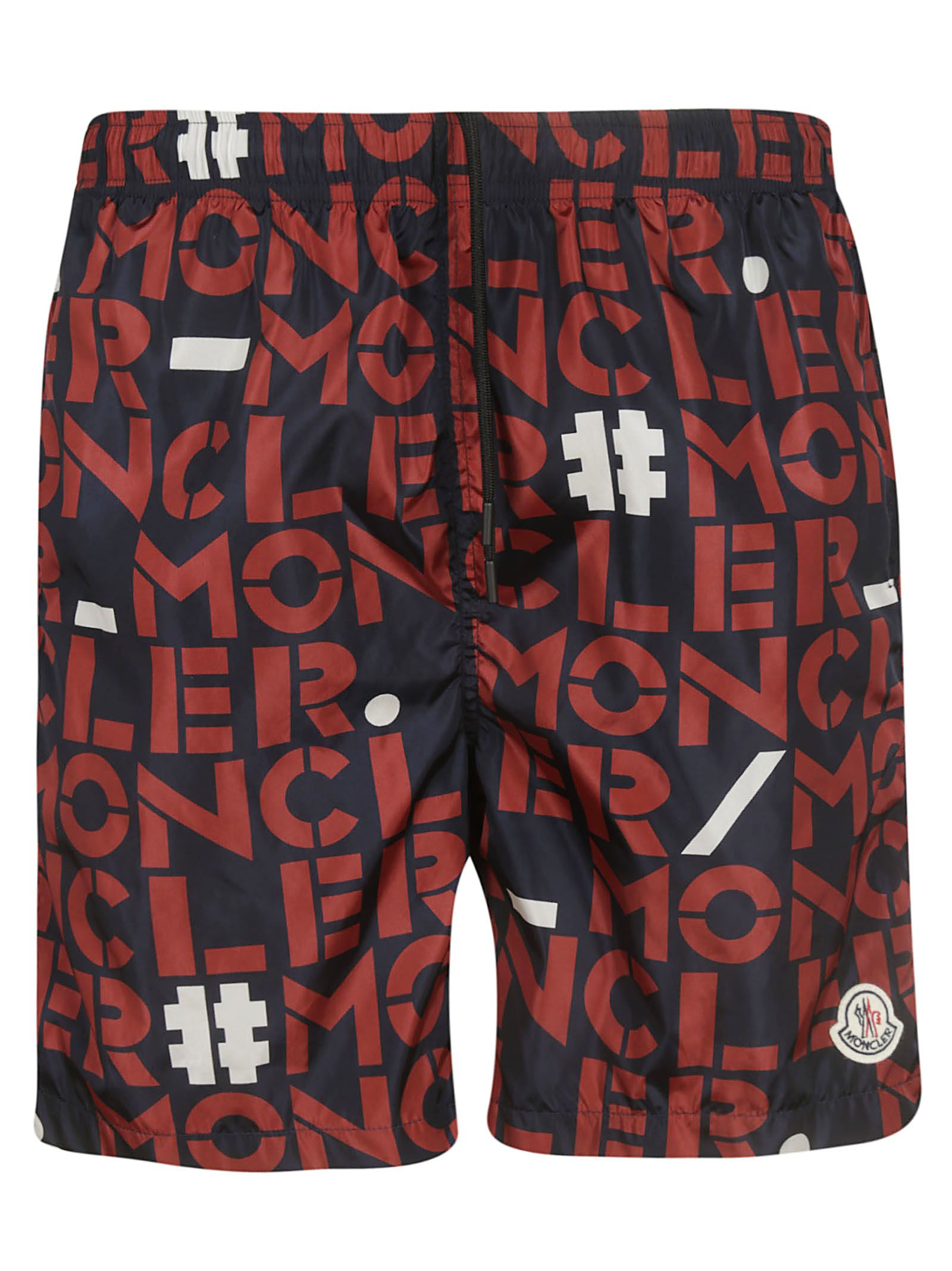 5de37b066a Moncler Moncler Printed Logo Swim Shorts - red - 10930848 | italist