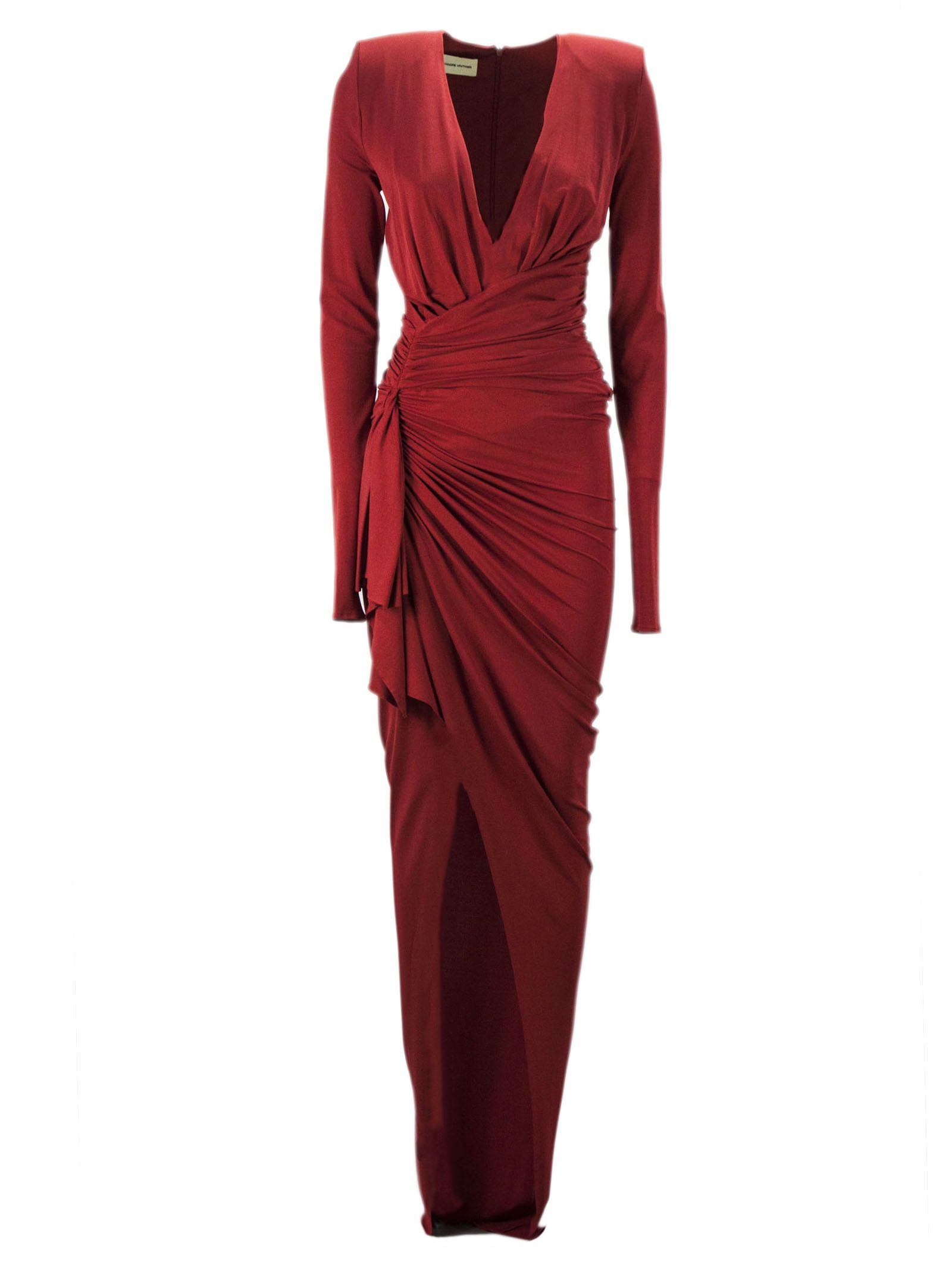Alexandre Vauthier Alexandre Vauthier Red Stretch Jersey Long Dress ... ad7063834