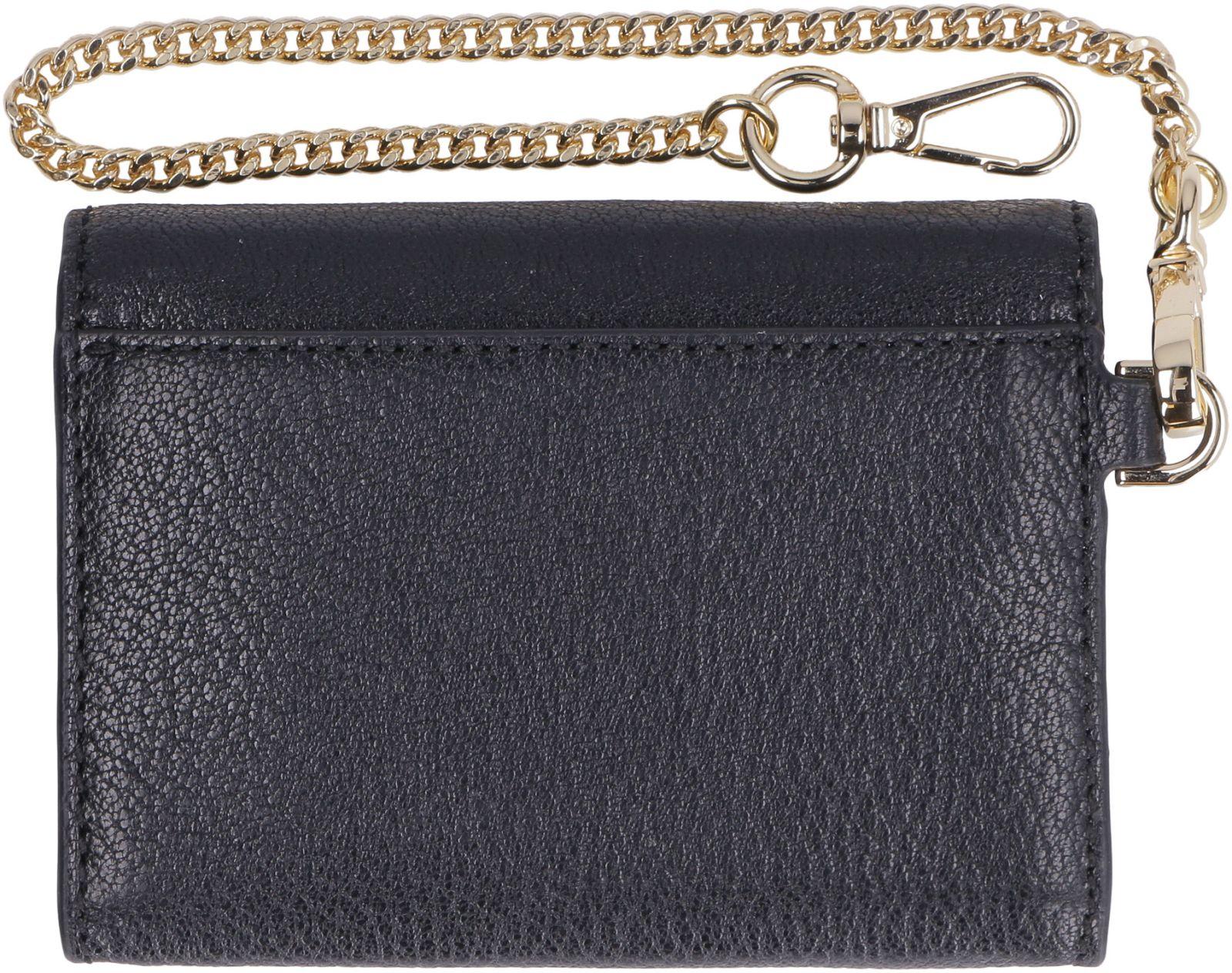 8cb3fdd8b70d ... Michael Kors Money Pieces Small Flap-over Leather Wallet - black ...