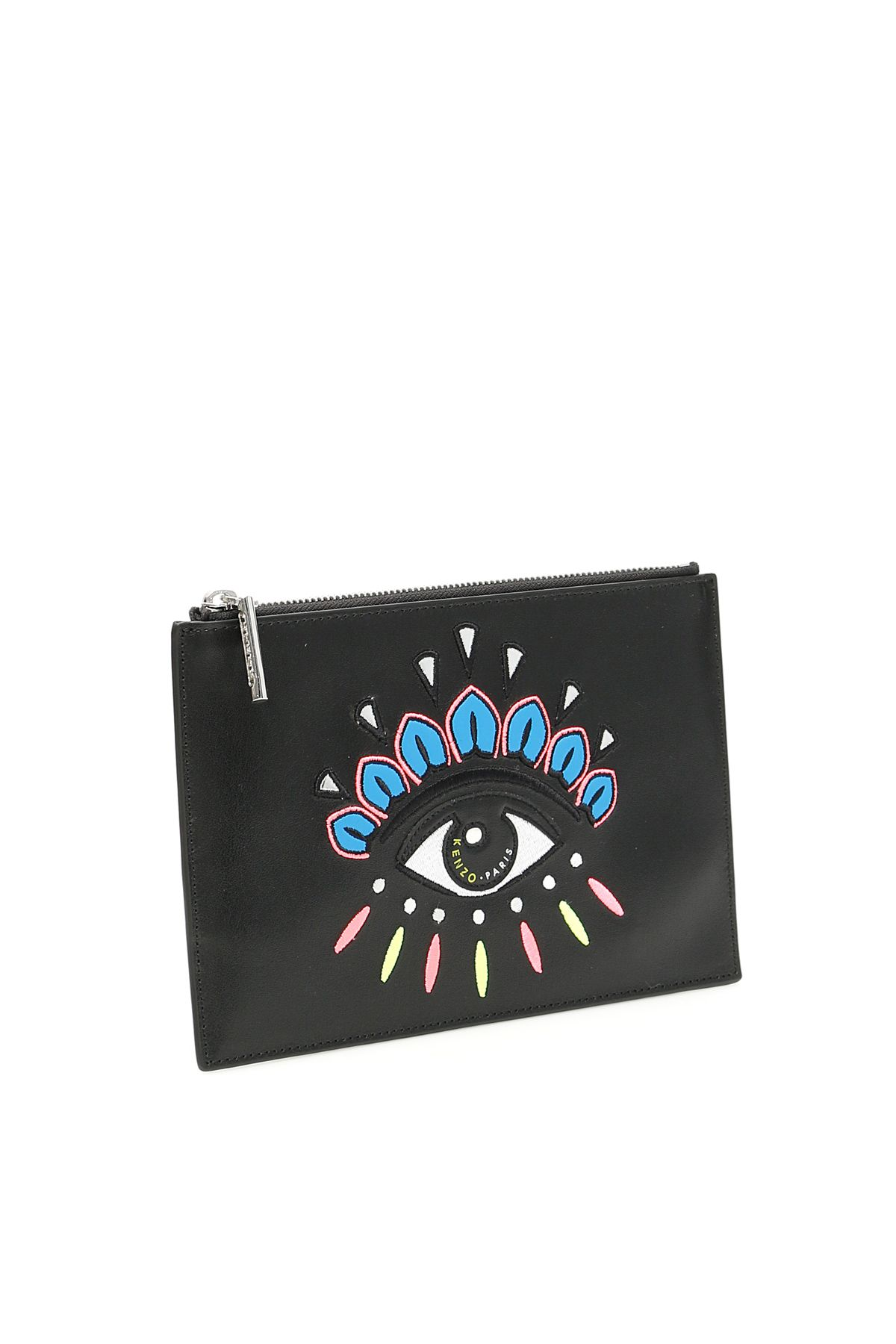 aae3d0cae08 Kenzo Kenzo Pouch With Eye Embroidery - NOIR (Black) - 10860535 ...