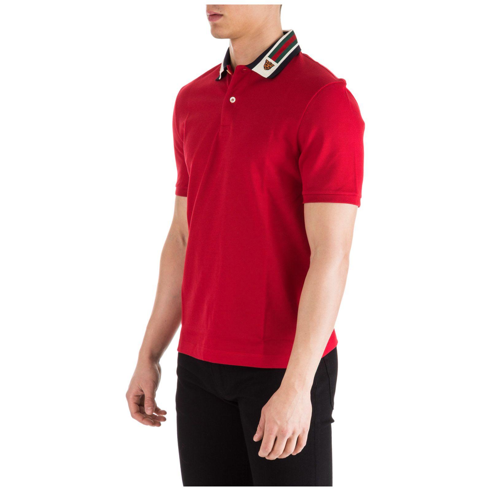 2012da298 Gucci Gucci Short Sleeve T-shirt Polo Collar - Red - 10861802   italist