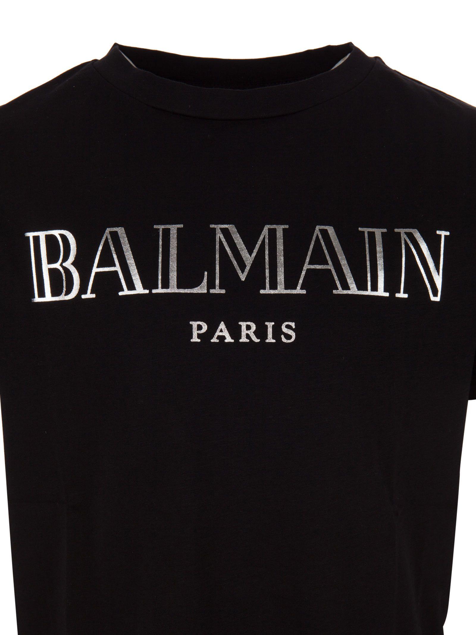 Paris T Kids Shirt Balmain Black 10907610Italist XZiuTOPk