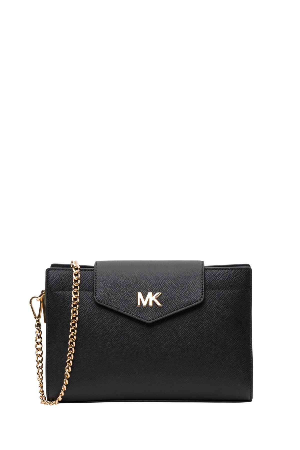 b614cd107aec MICHAEL Michael Kors Grossgrain Leather Crossbody Bag - Black ...