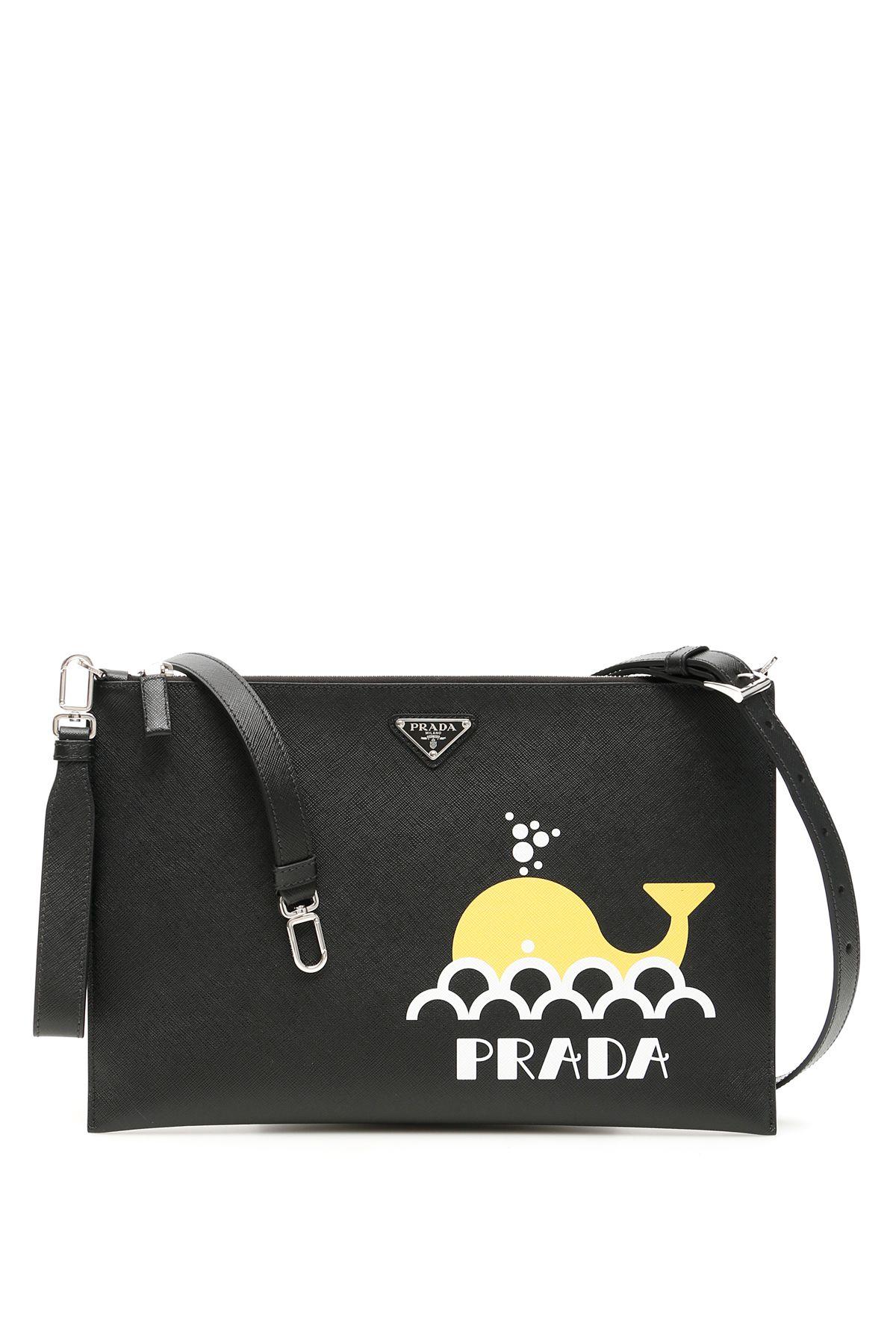 bfeef35cda37 Prada Prada Whale Logo Clutch - NERO GIALLO Nero - 10858918   italist