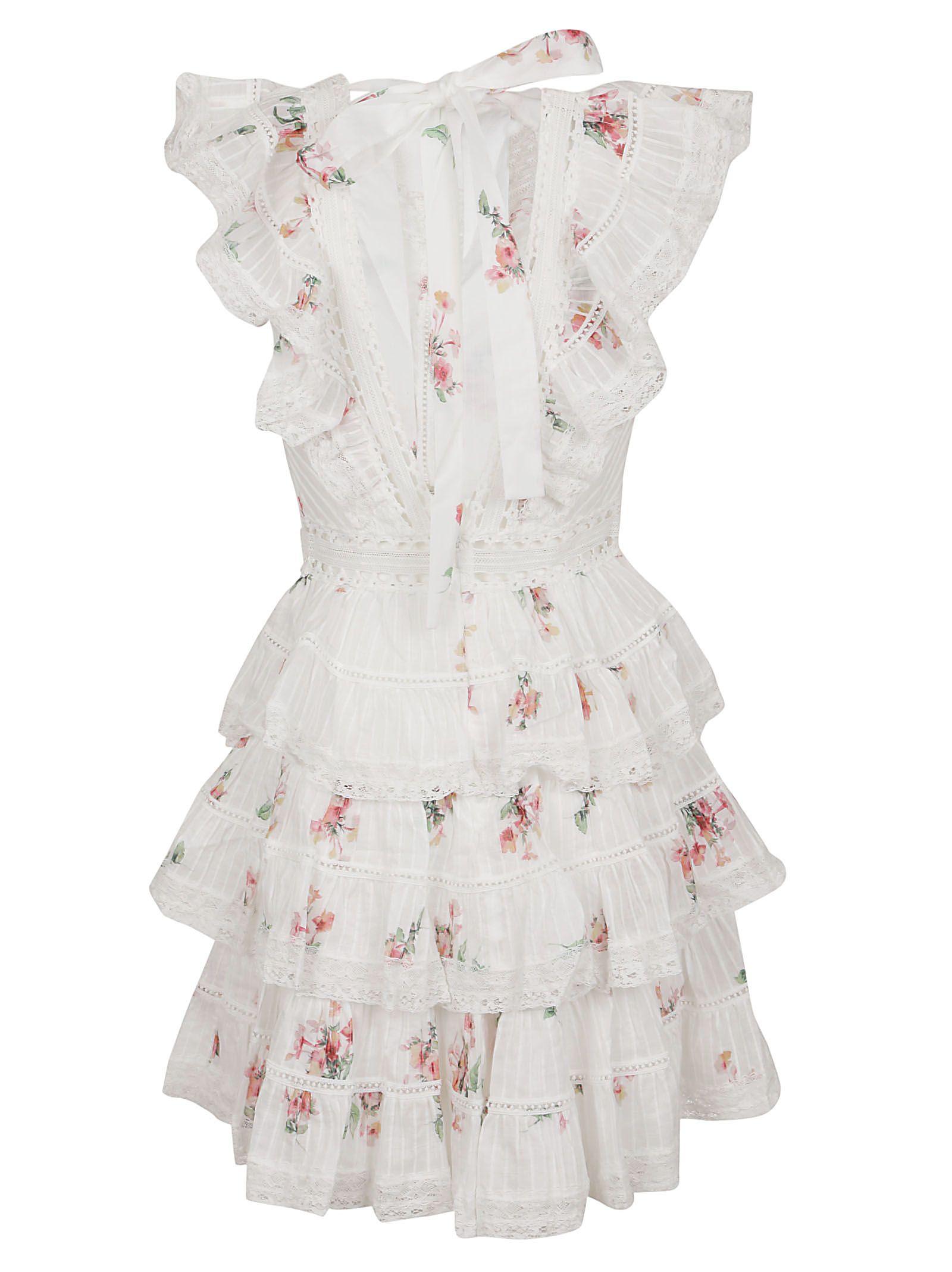 27653e3251 Zimmermann Zimmermann Heathers Pintuck Frill Short Dress - Basic ...