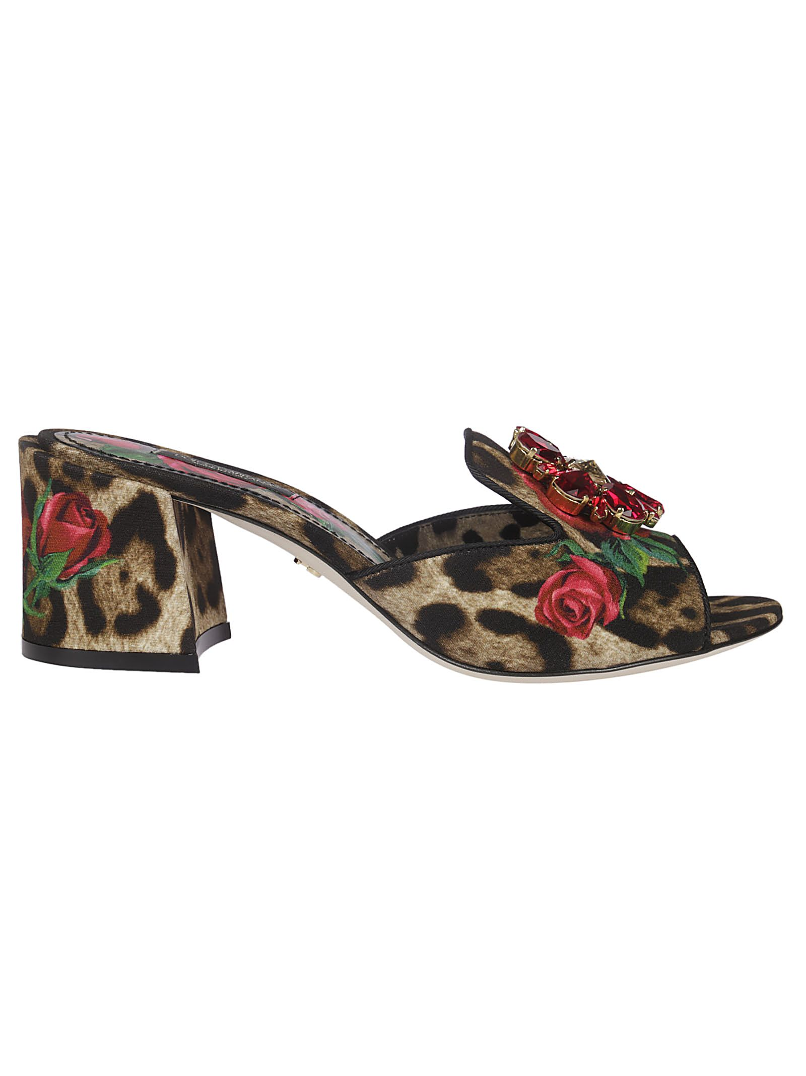 8522052571a Dolce   Gabbana Dolce   Gabbana Leopard And Rose Print Sandals ...