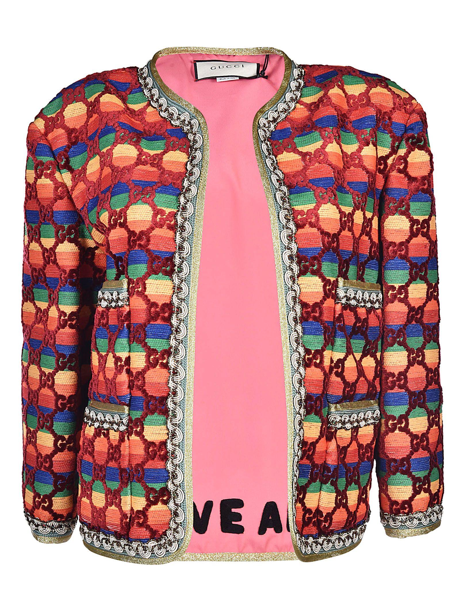 e2a8026d11c5 Gucci Gucci GG Rainbow Jacket - Multicolor - 10537043